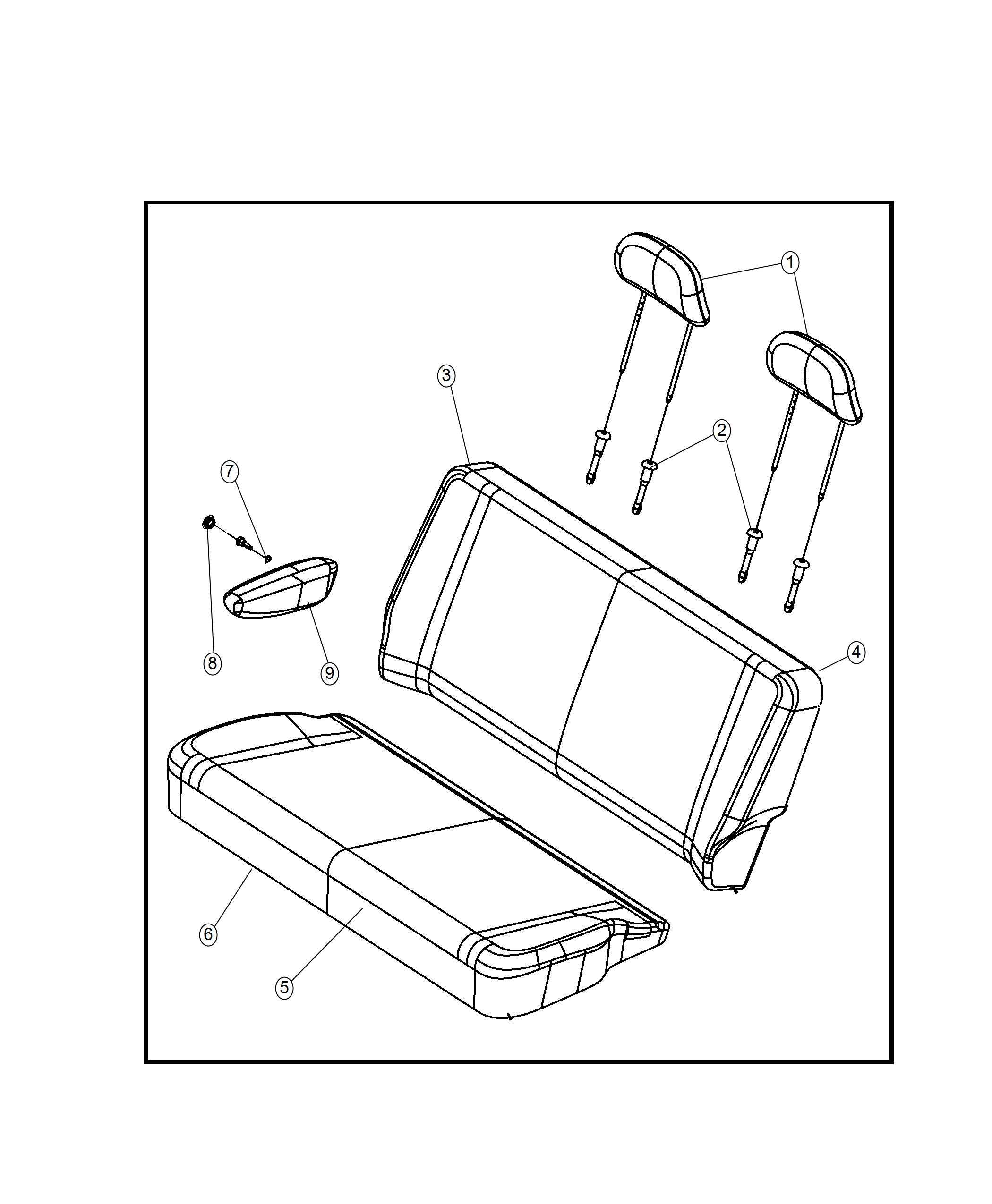 Dodge Grand Caravan Used For Cover And Pad Seat Back