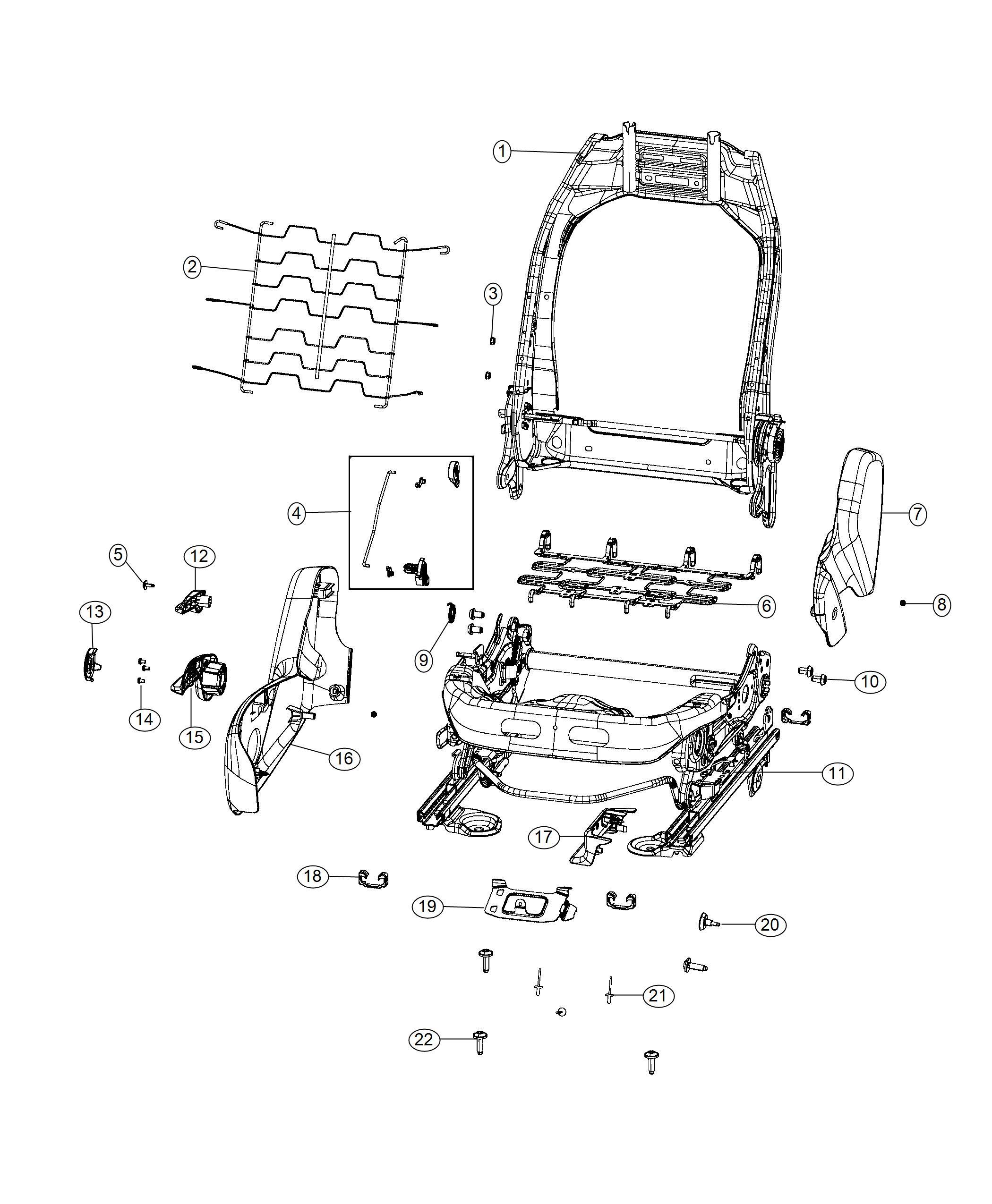 Jeep Renegade Adjuster Manual Seat Export Way