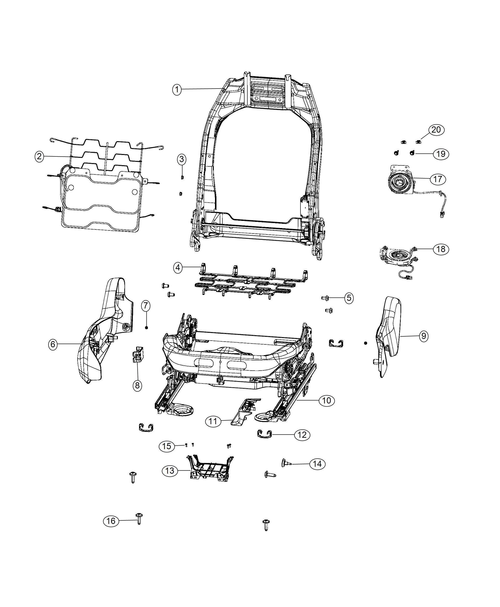 Jeep Renegade Adjuster Power Seat Seat Parts Module