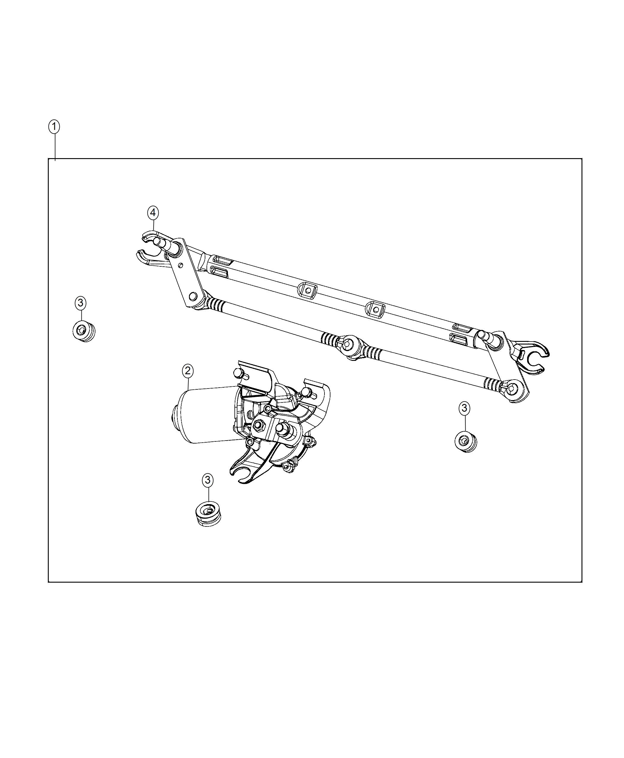 Jeep Renegade Used For Motor And Linkage Windshield