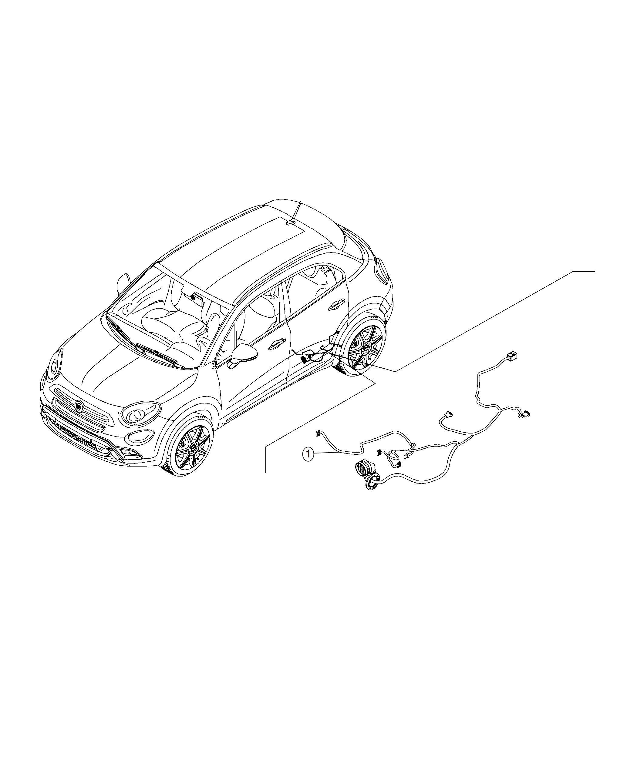 Fiat 500x Wiring Rear Door Left