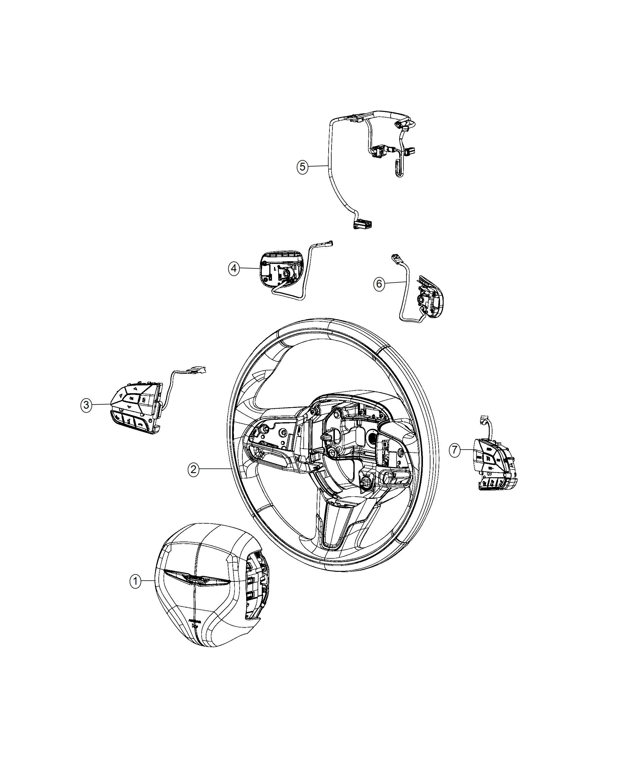 Chrysler Pacifica Wiring Steering Wheel Steering Wheel