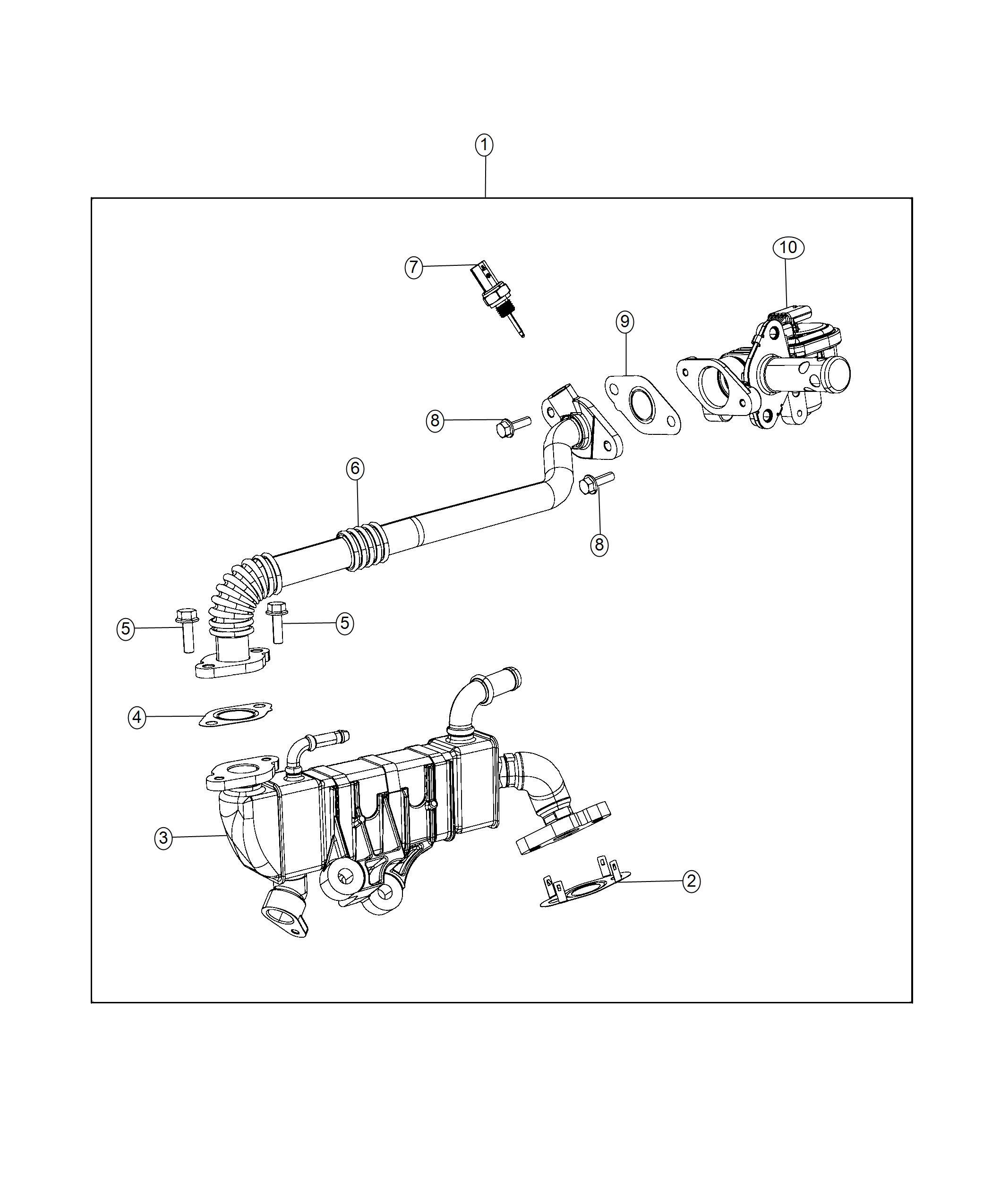Jeep Wrangler Gasket Egr Tube Flange