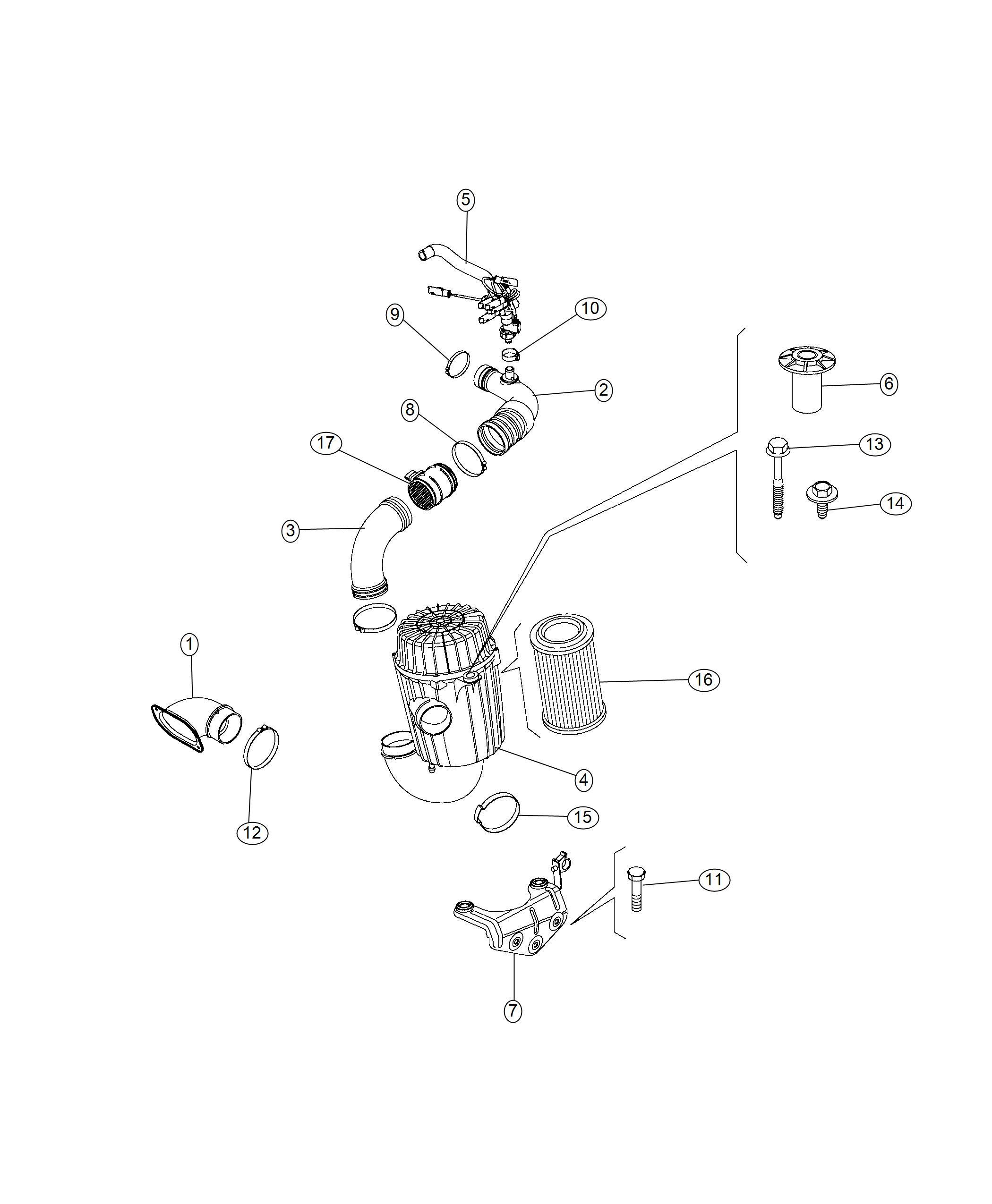 Ram Clamp Hose M25 Ventilation Crankcase
