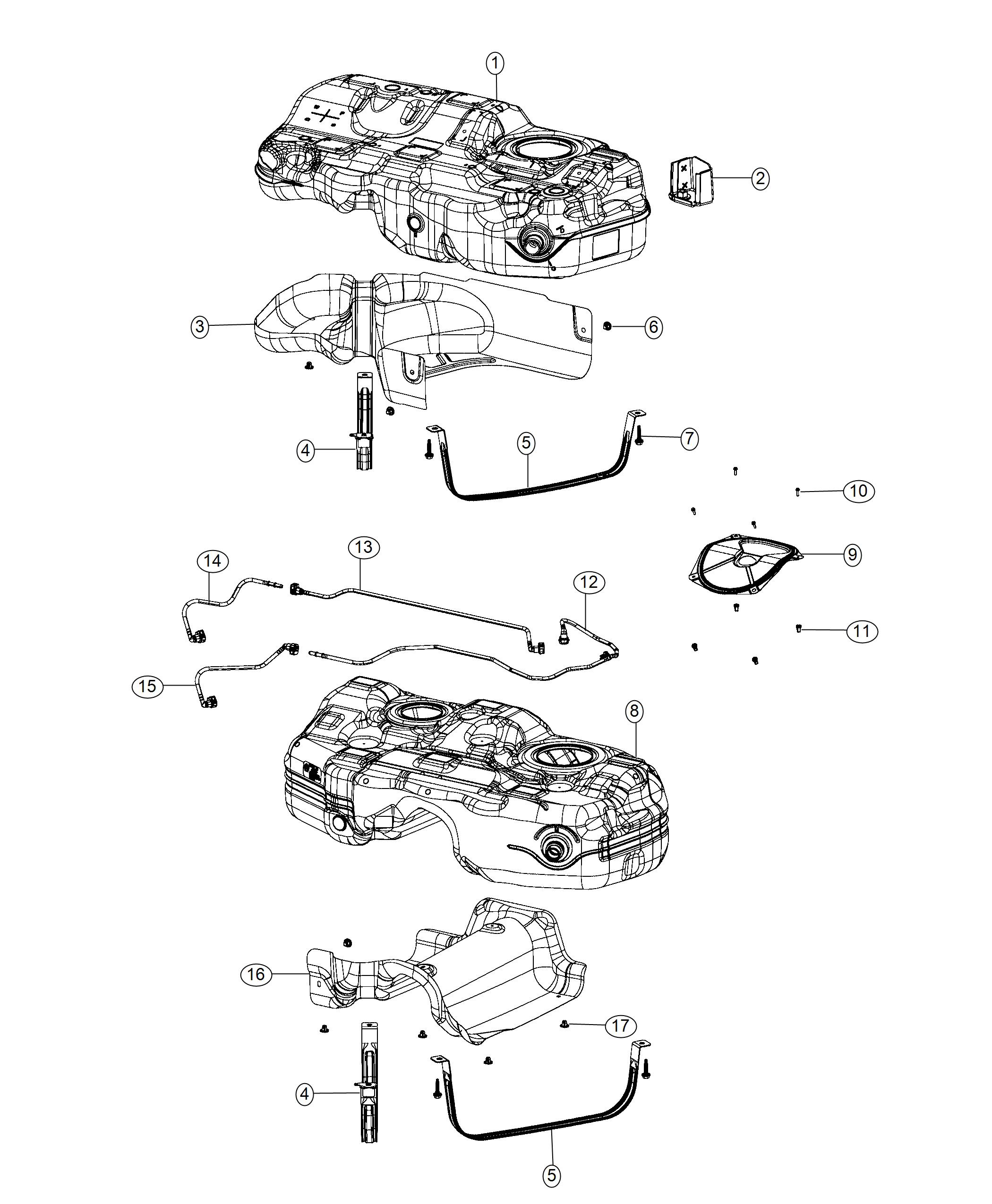 Jeep Cherokee Tank Fuel Pzev System Gallons