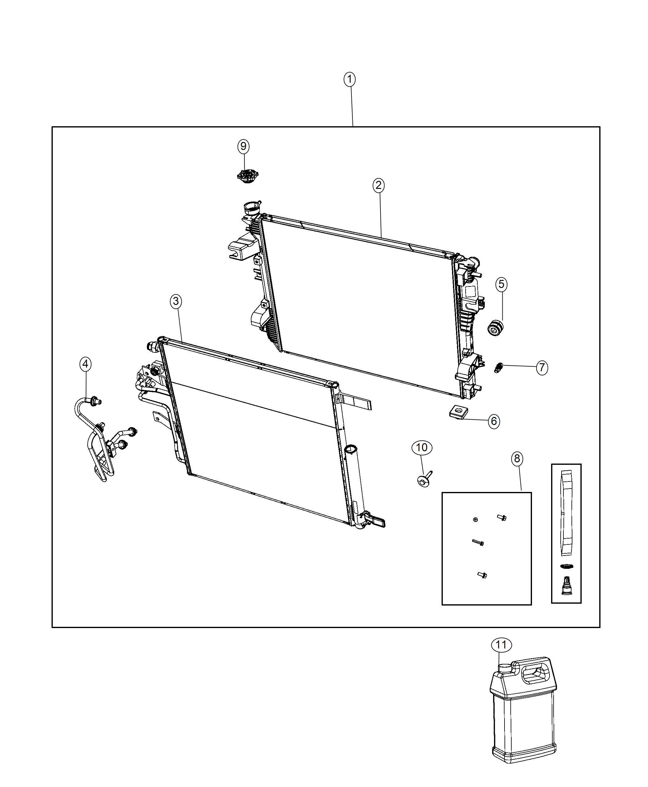 Ram Fastener Kit Cooling Module Fca