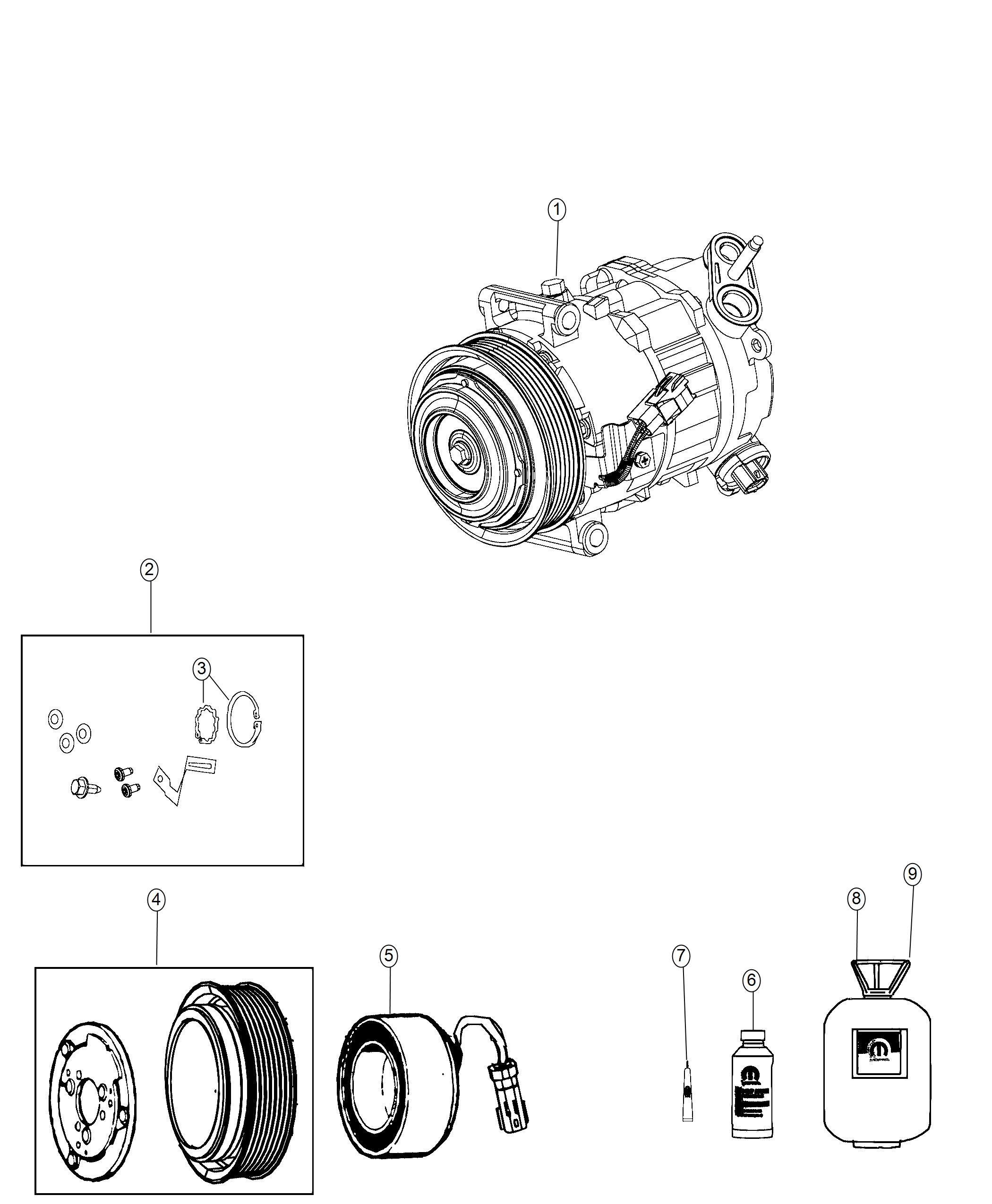 Jeep Cherokee Clutch Overhaul Kit A C Compressor Air