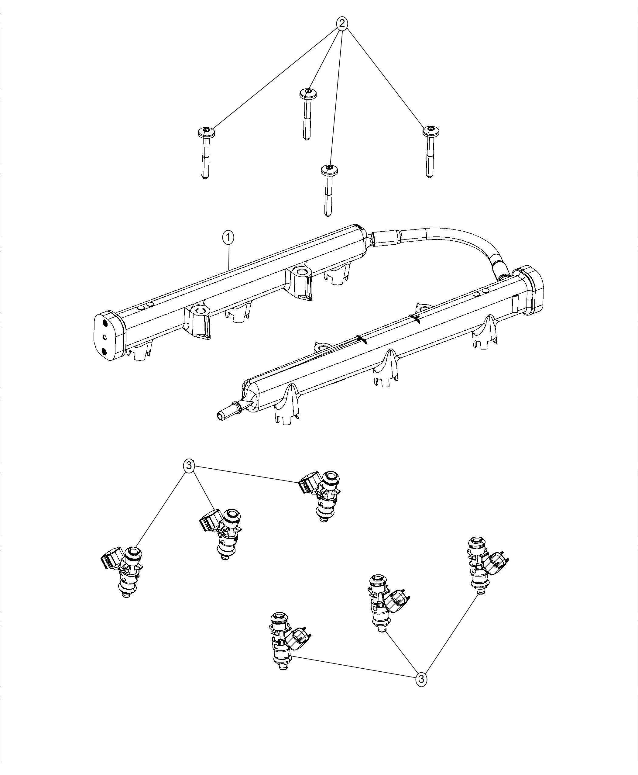 Chrysler Pacifica L Hybrid Rail Fuel 3 6l V6 24v Vvt