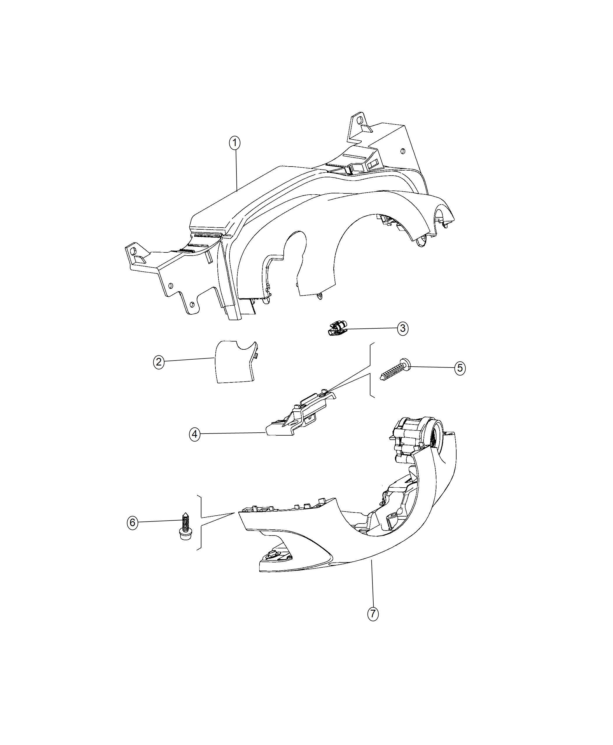 Fiat 500x Shroud Steering Column Lower Remote