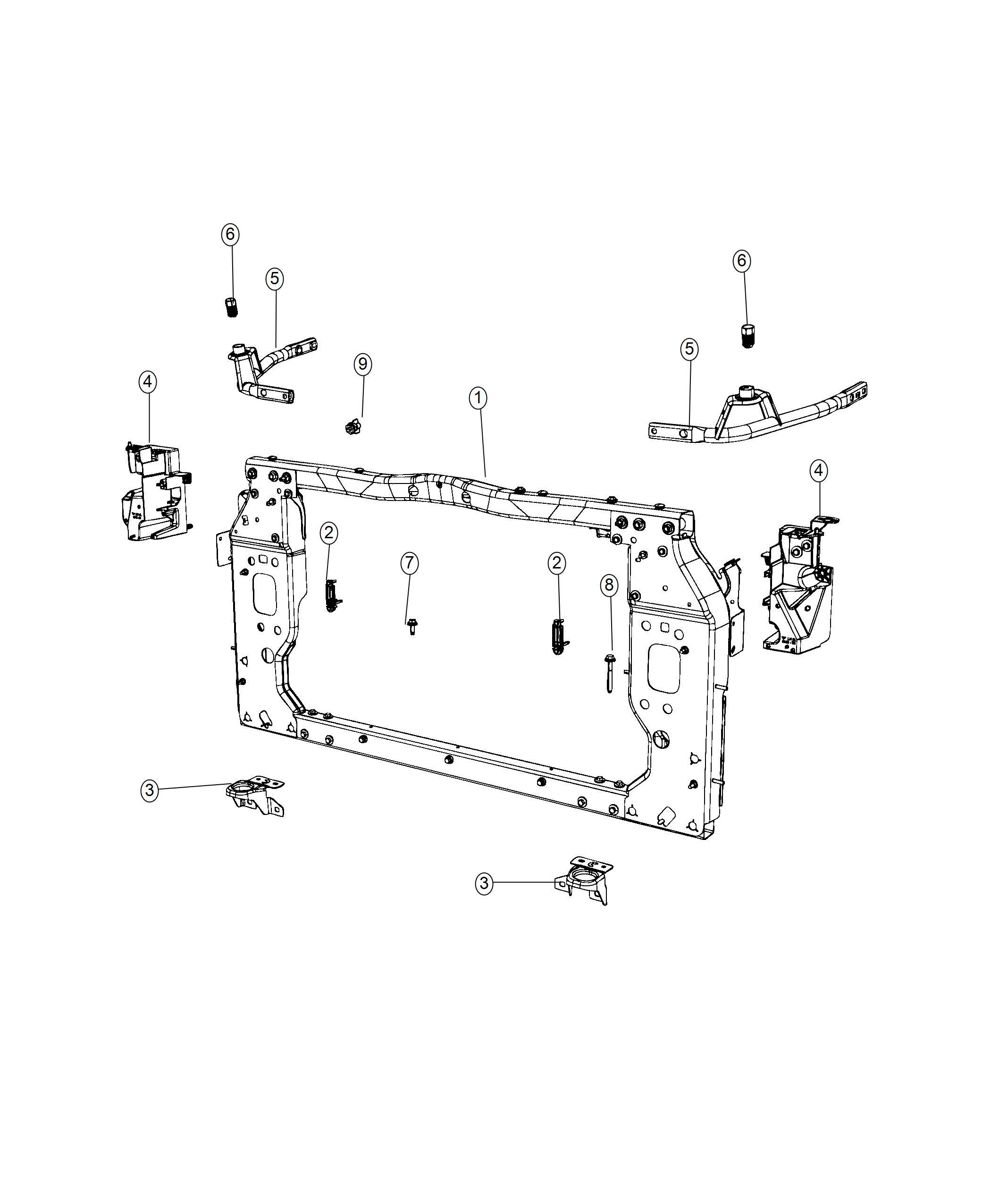 Jeep Cherokee Panel Radiator Closure