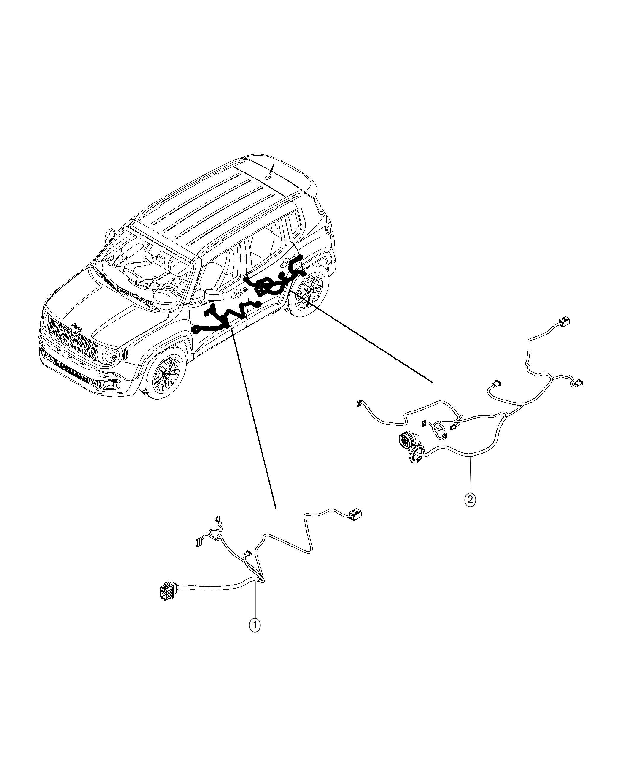 Jeep Renegade Wiring Rear Door Right Export Us Canada