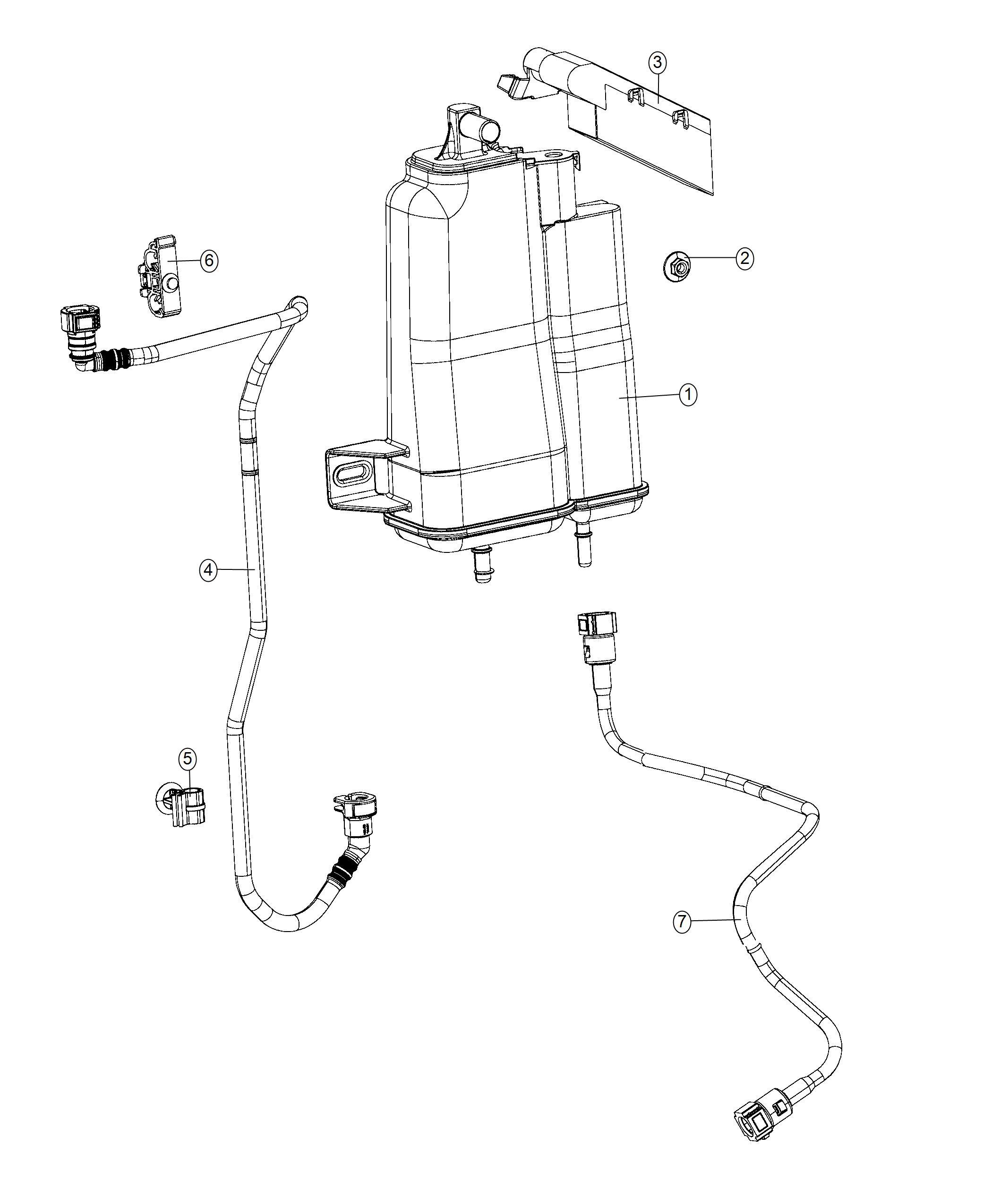 Jeep Renegade Canister Vapor Zero Evaporate Emissions
