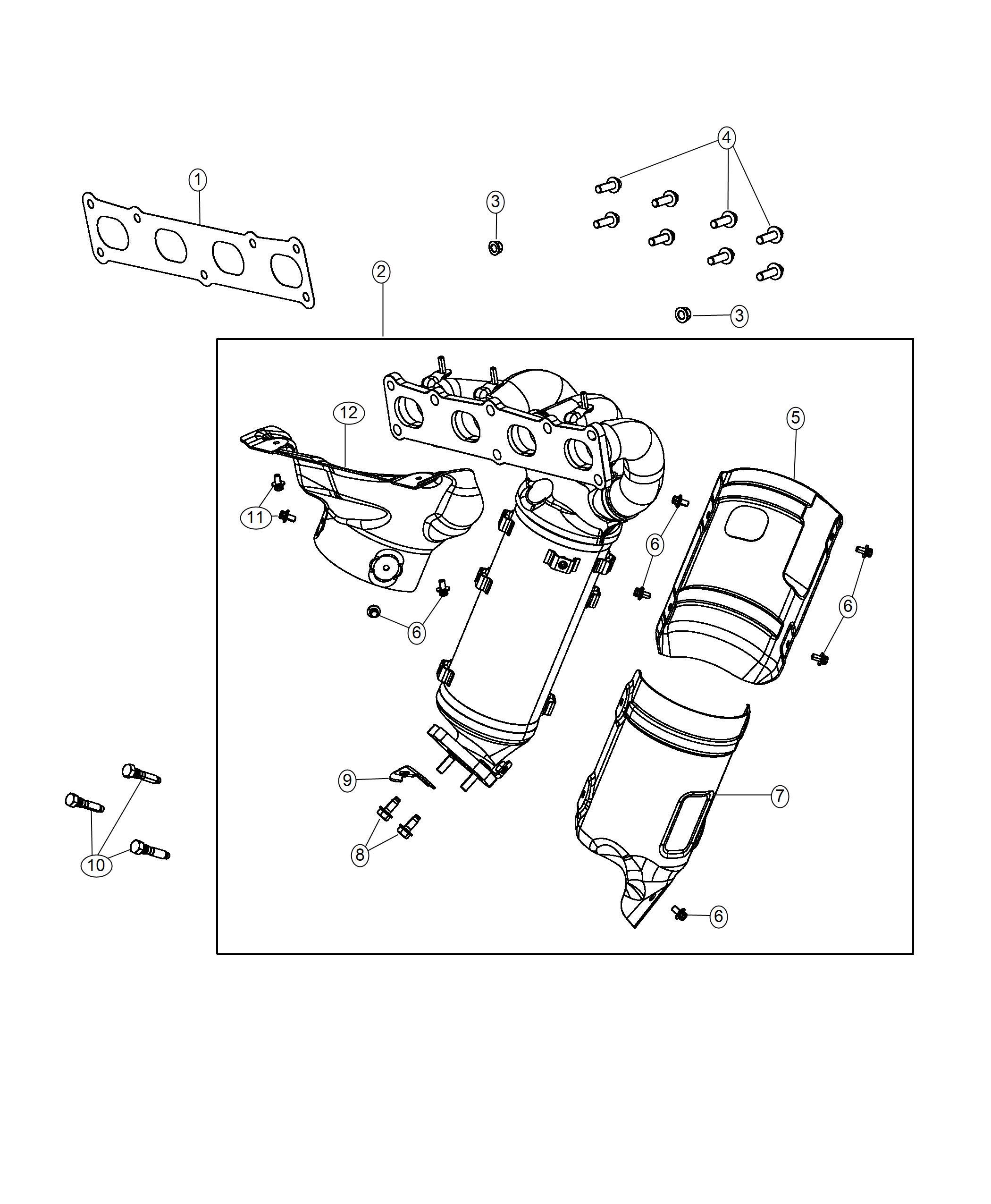 Jeep Cherokee Shield Exhaust Catalytic Converter Front