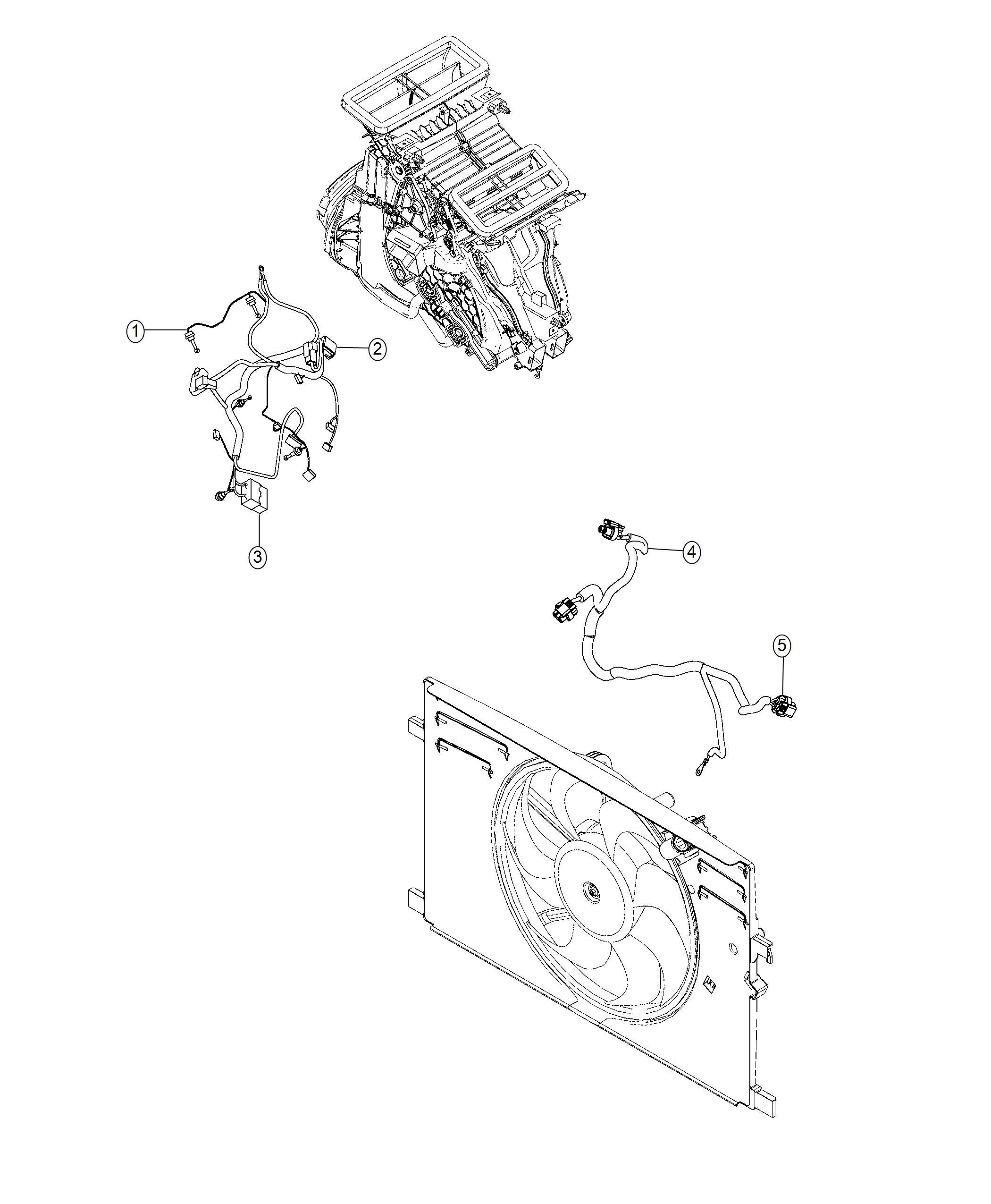 Jeep Renegade Wiring Fan Motor Radiator Fan Export