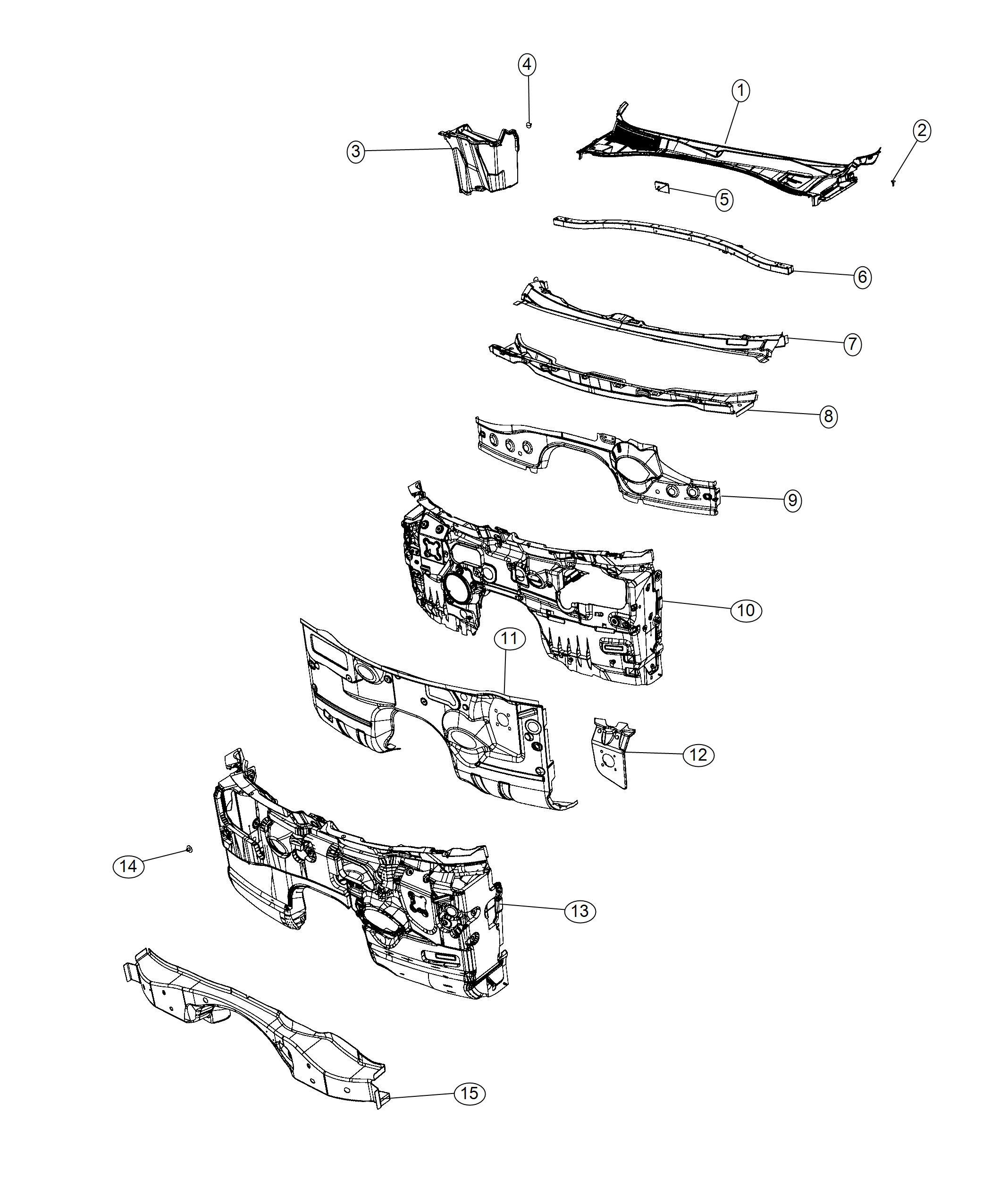 Dodge Charger Silencer Dash Panel Engine Vvt Hemi