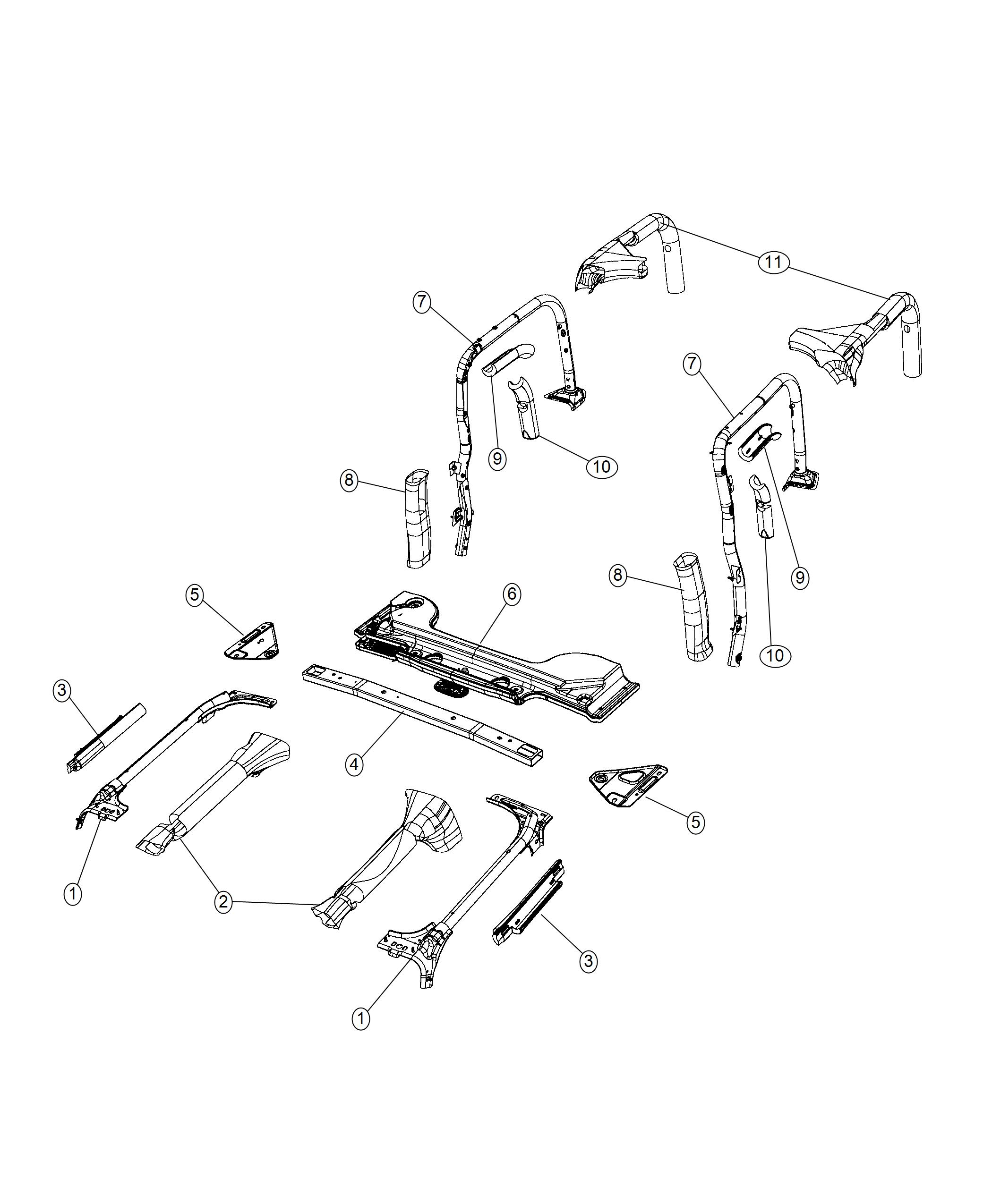 Jeep Wrangler Bracket Sportbar Right Body