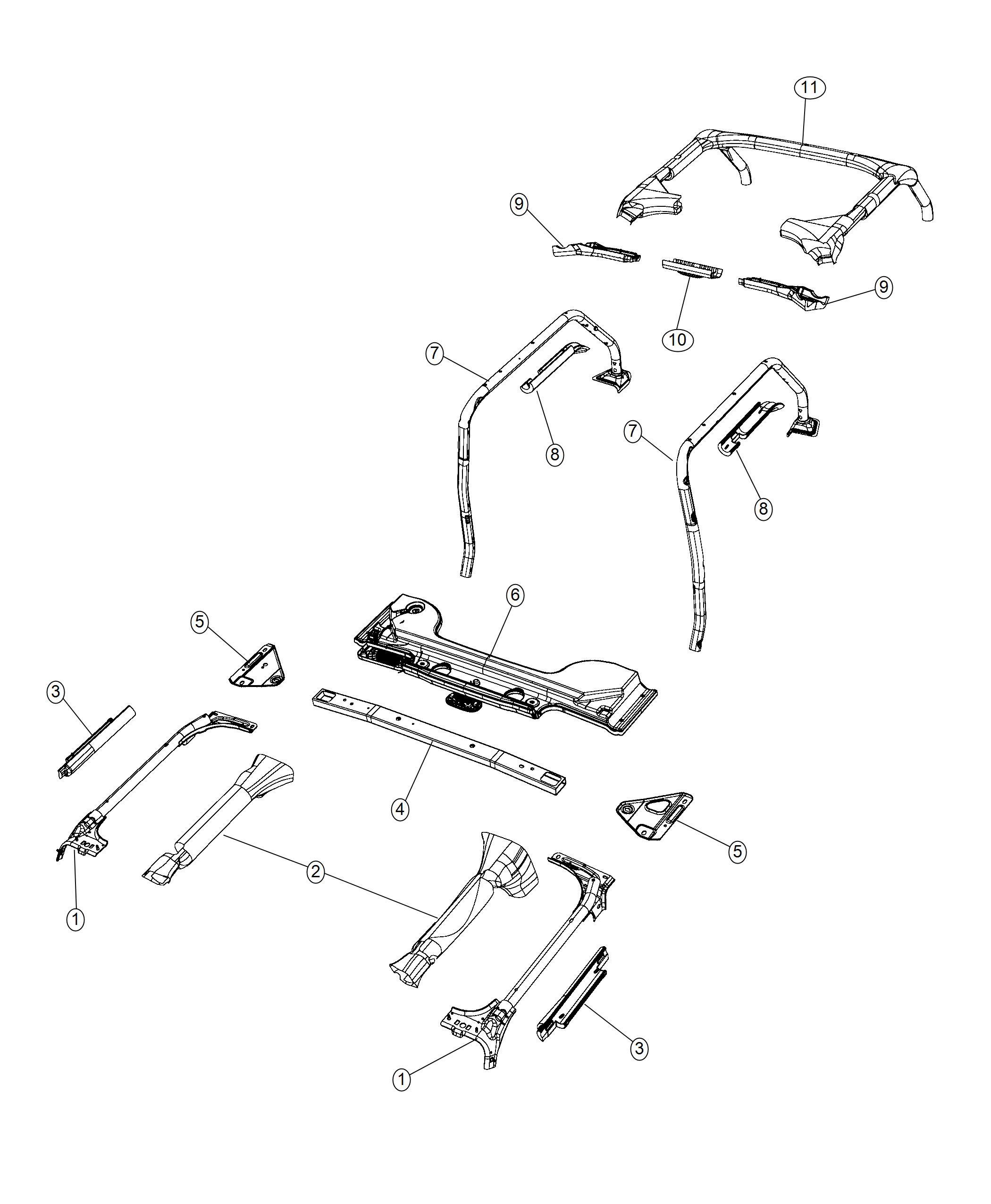 Jeep Wrangler Bracket Sportbar Right Body