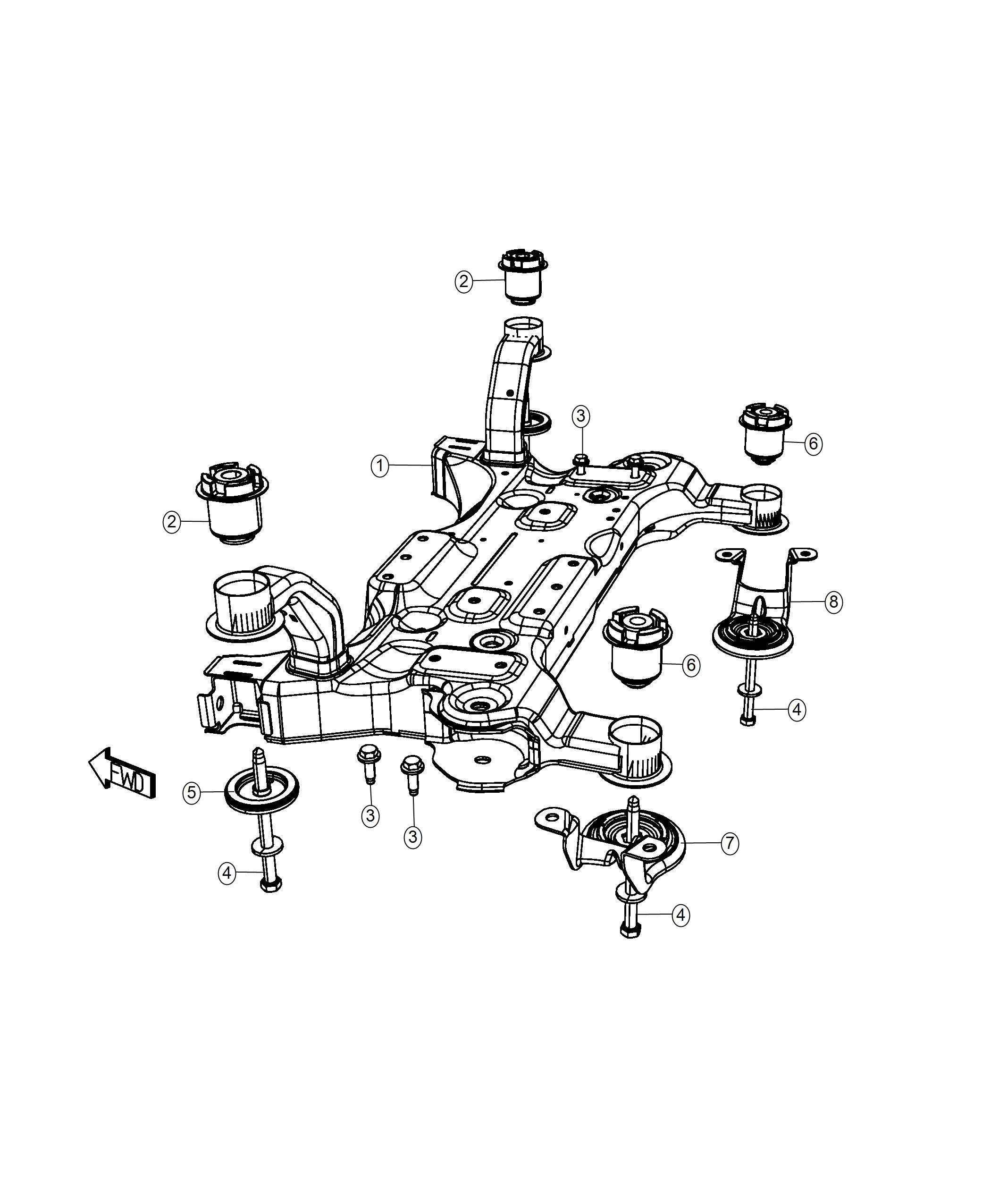 Dodge Grand Caravan Plate Isolator