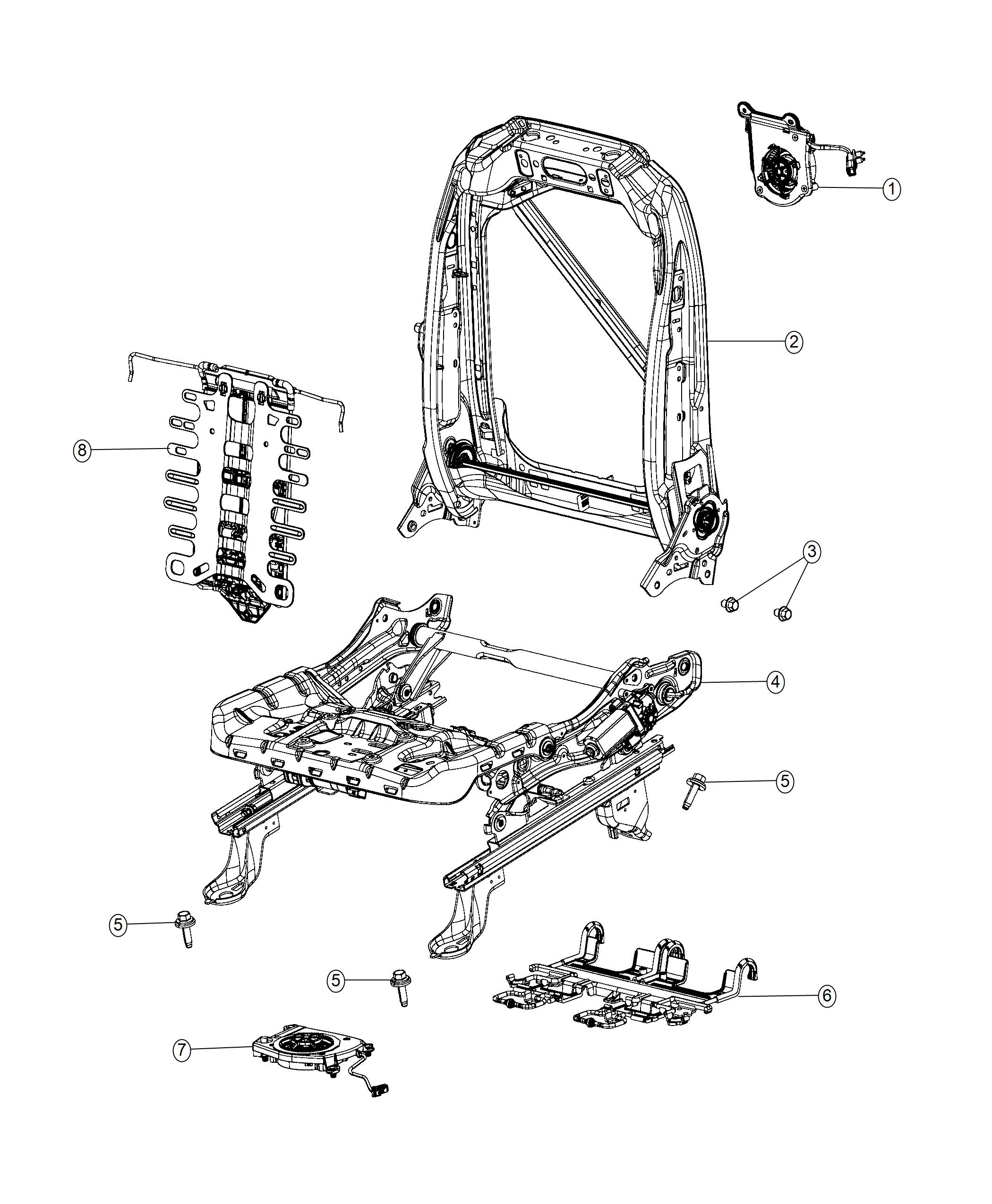 Chrysler Pacifica L Hybrid Adjuster Power Seat