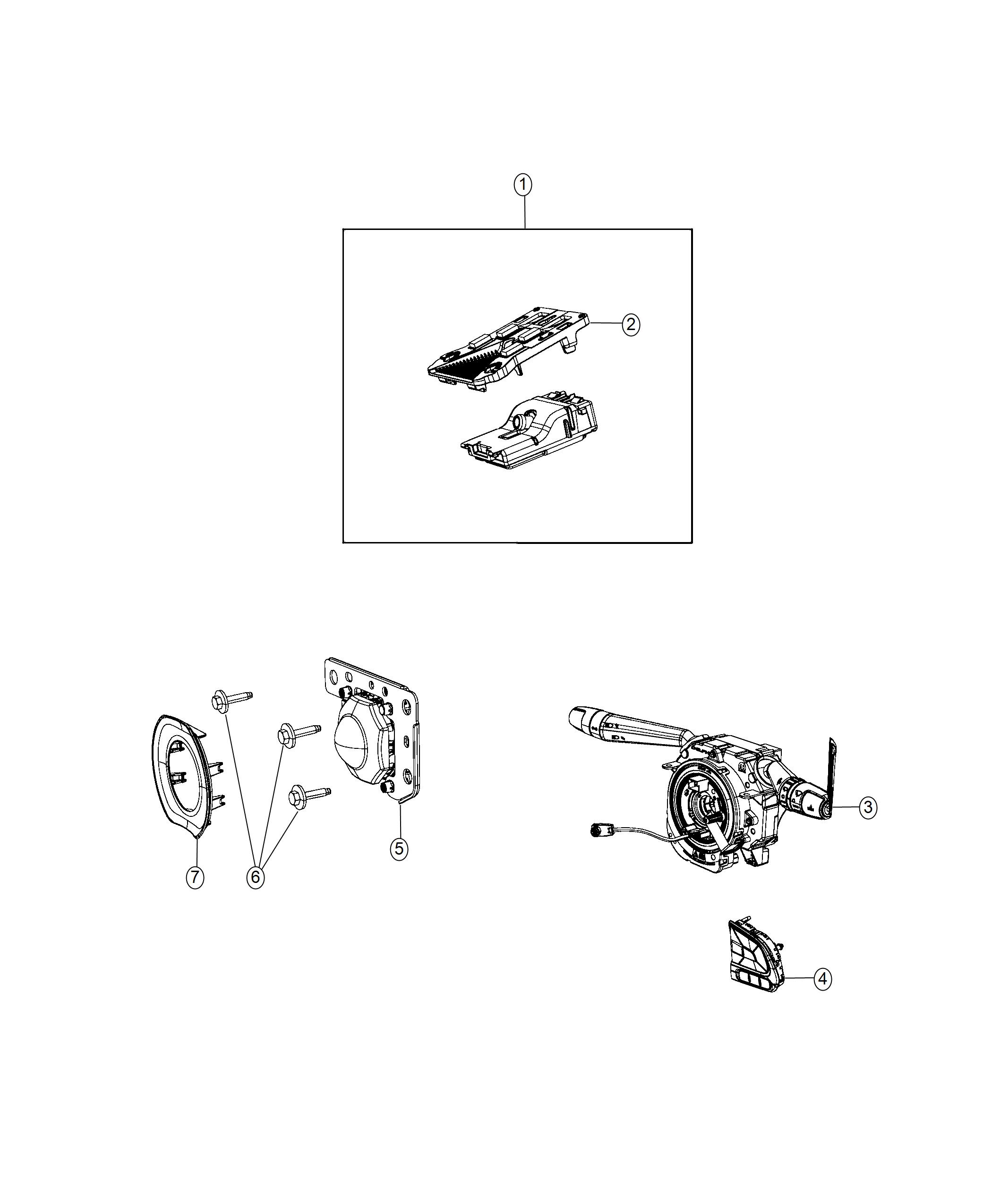 Jeep Compass Clockspring Steering Column Control Module Instrument Panel Parts