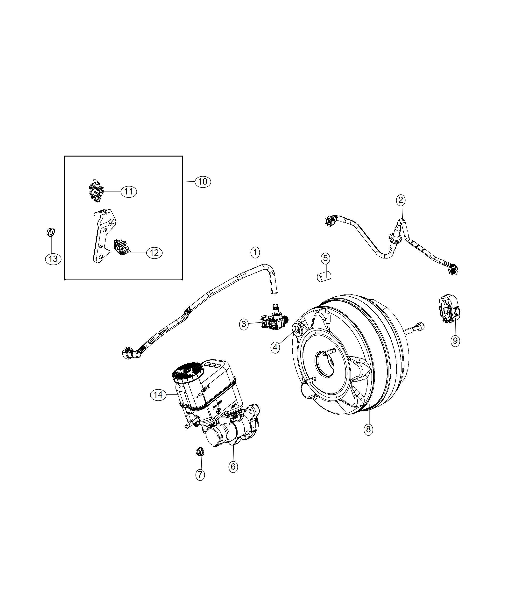 Jeep Compass Hose Brake Booster Vacuum 6 Speed C635
