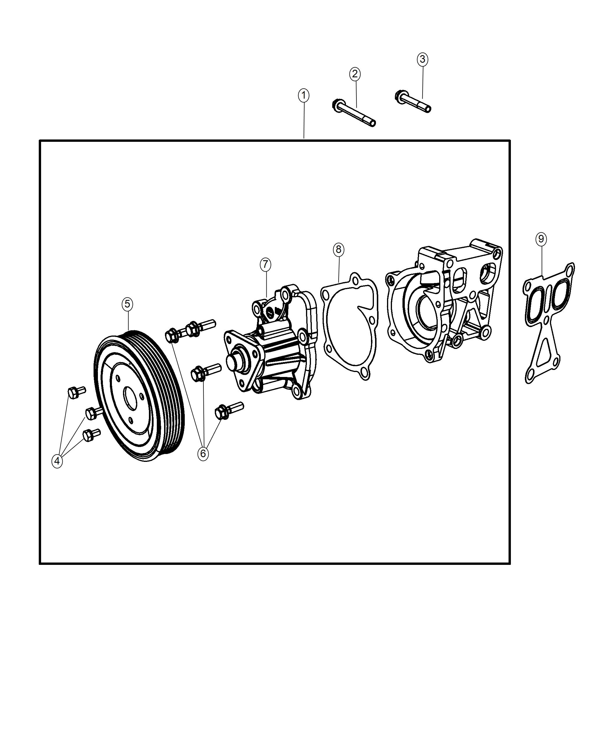 Jeep Compass Pump Water Consist Of Pump Pulley