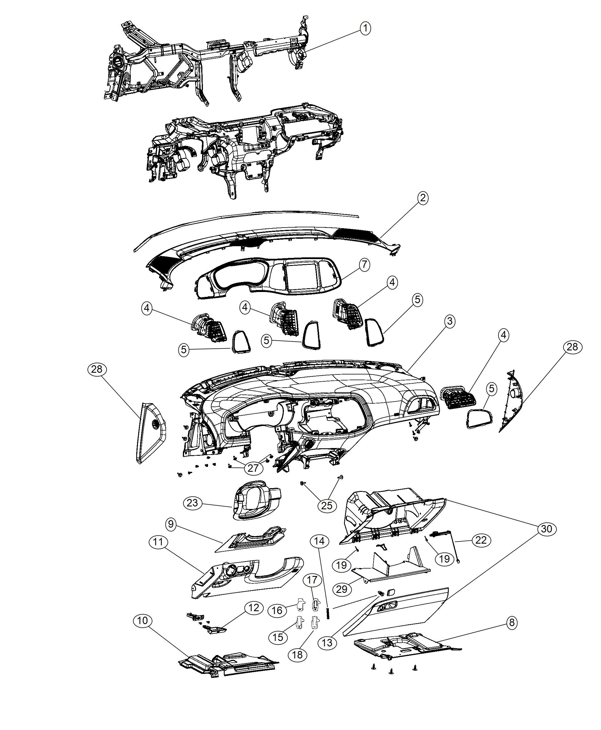 Dodge Challenger Bezel Instrument Cluster Trim No