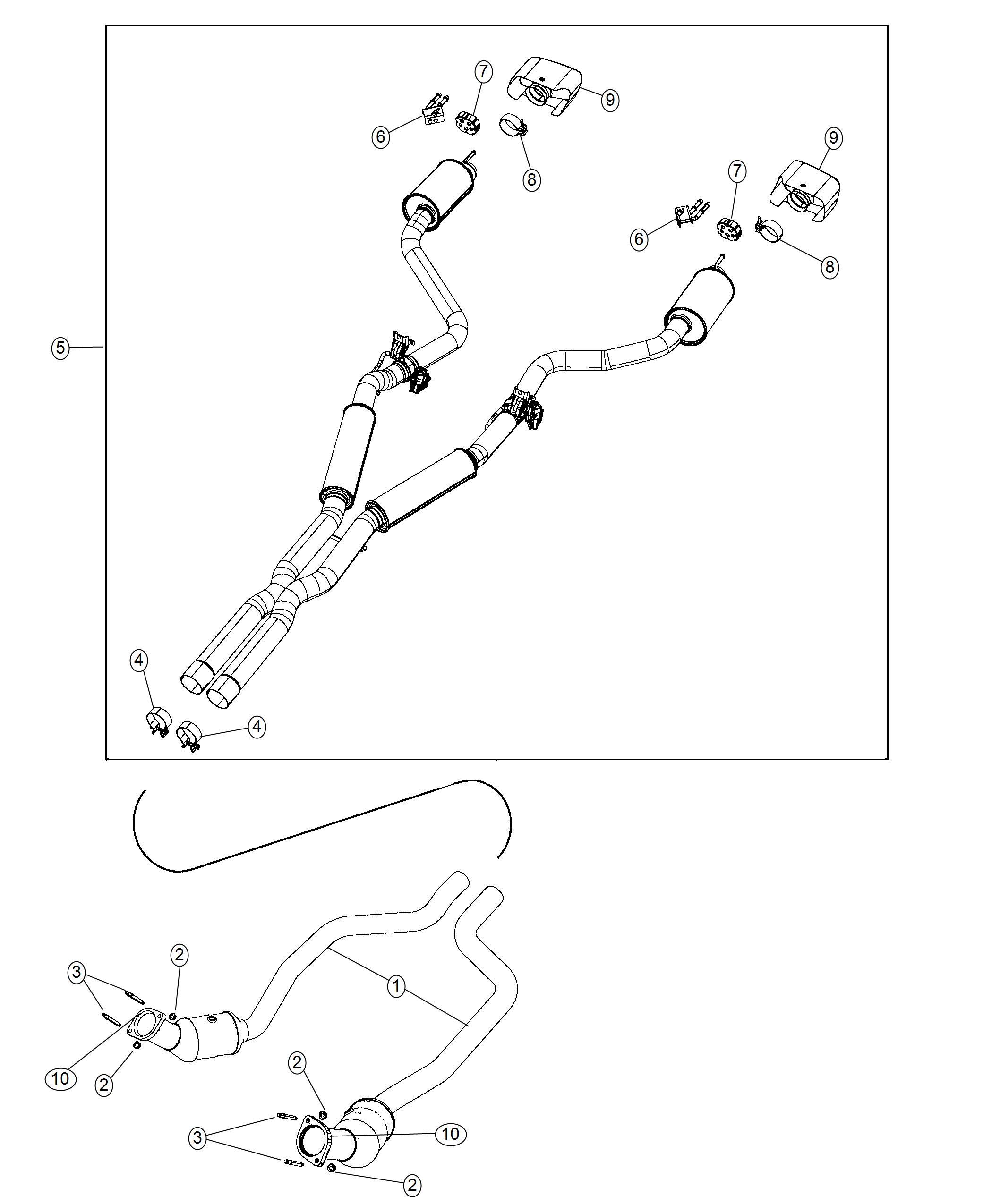 Dodge Challenger Exhaust Tip Tailpipe Left