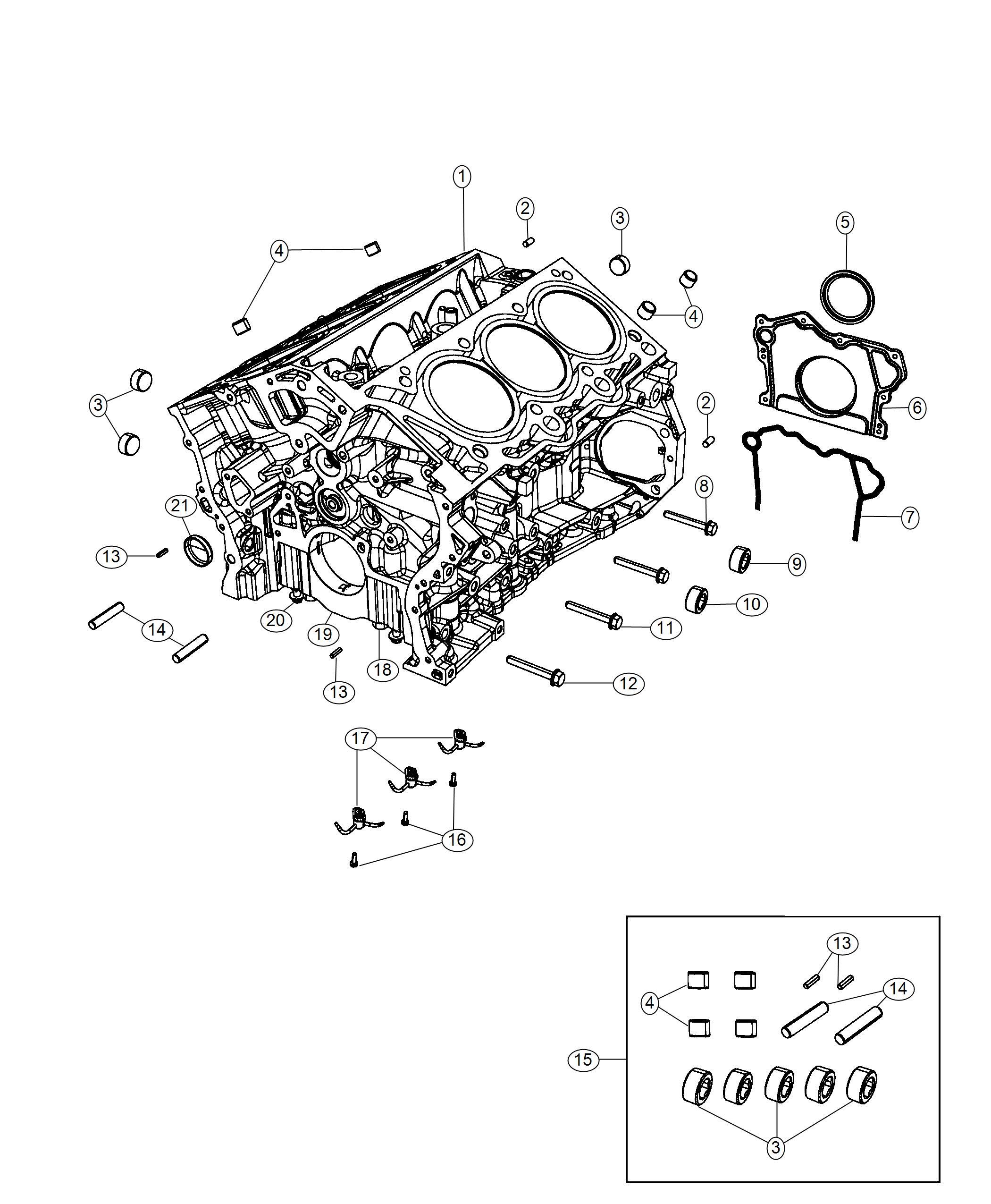 Dodge Durango Plug Cylinder Block Mounting