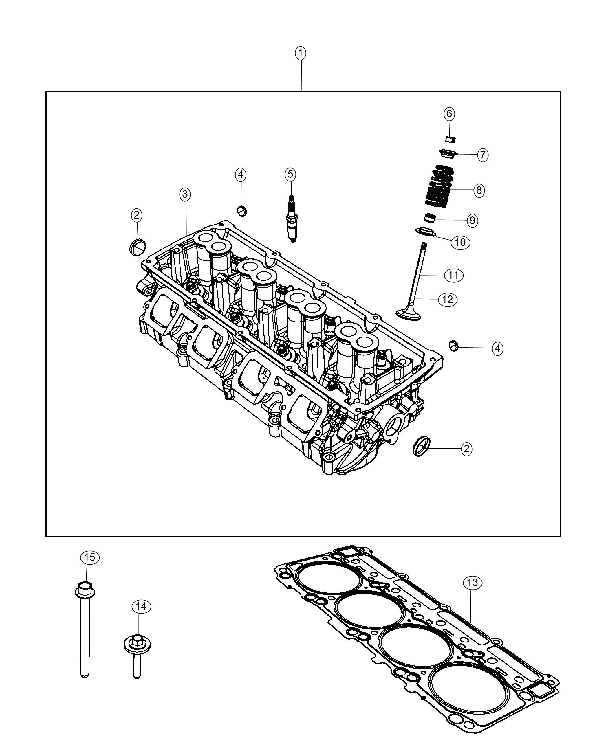 Dodge Durango Head Head Assembly Cylinder Engine