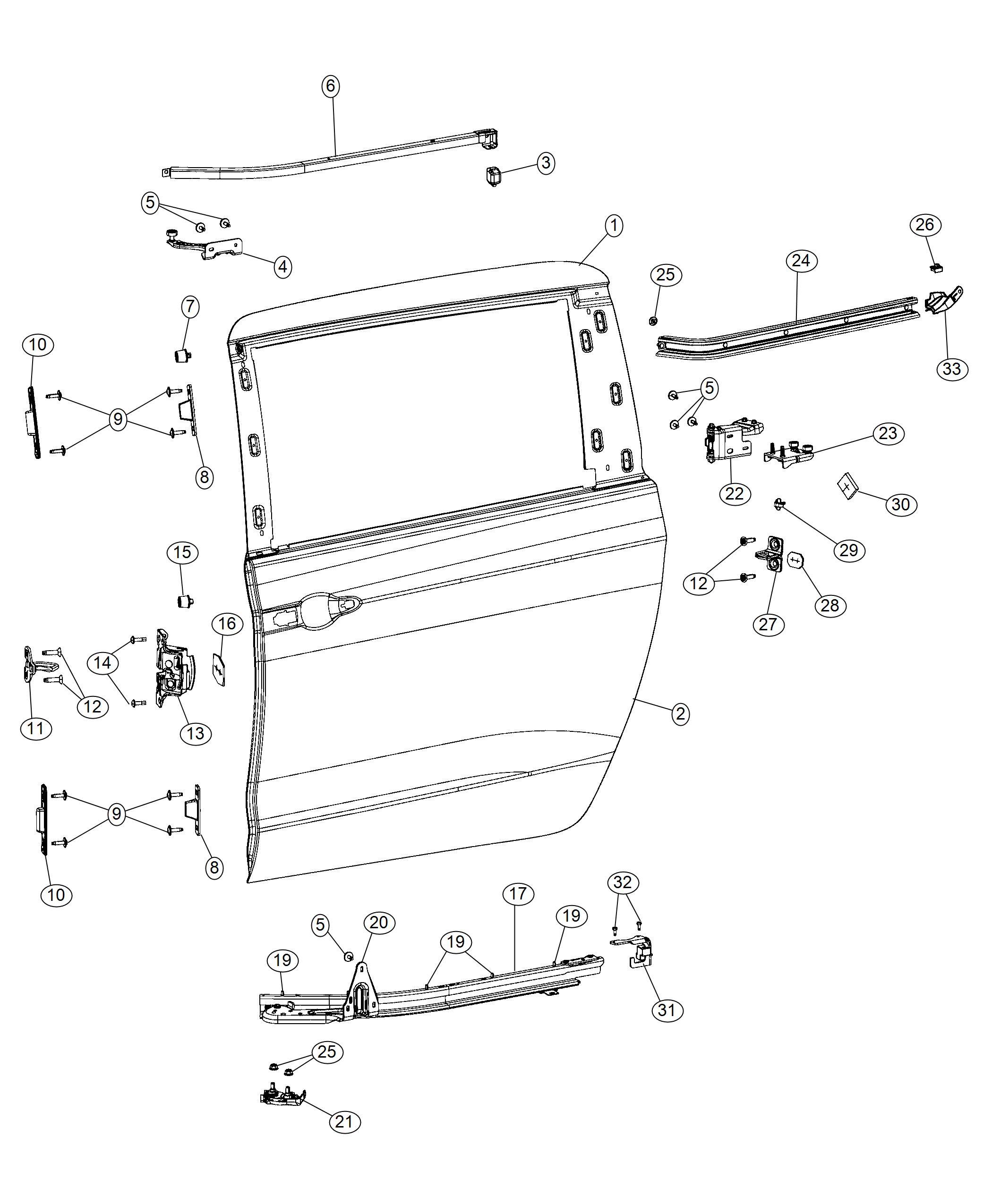 Chrysler Pacifica Panel Sliding Door Outer Repair Left
