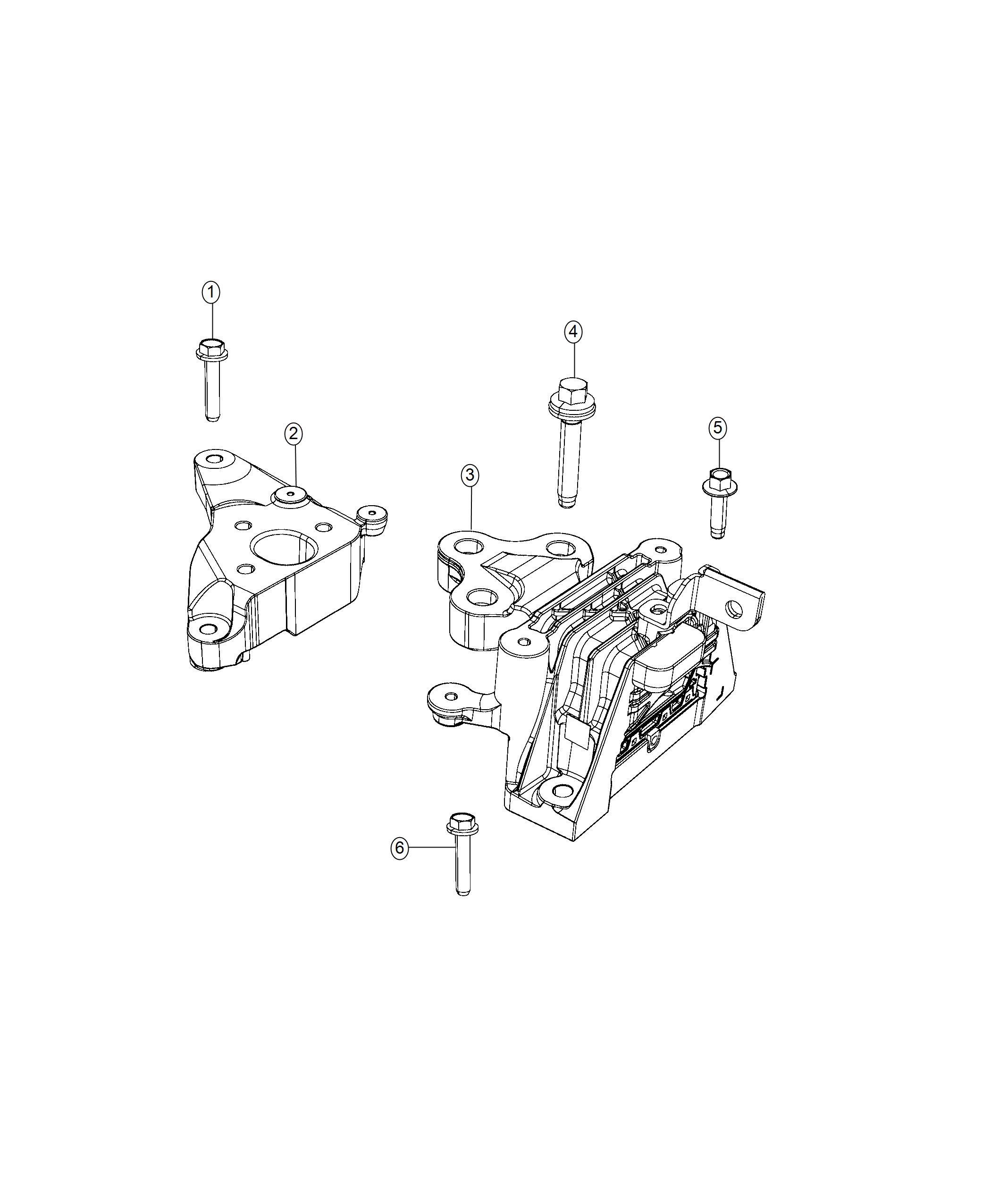Chrysler Pacifica Bracket Transmission Mount Engine