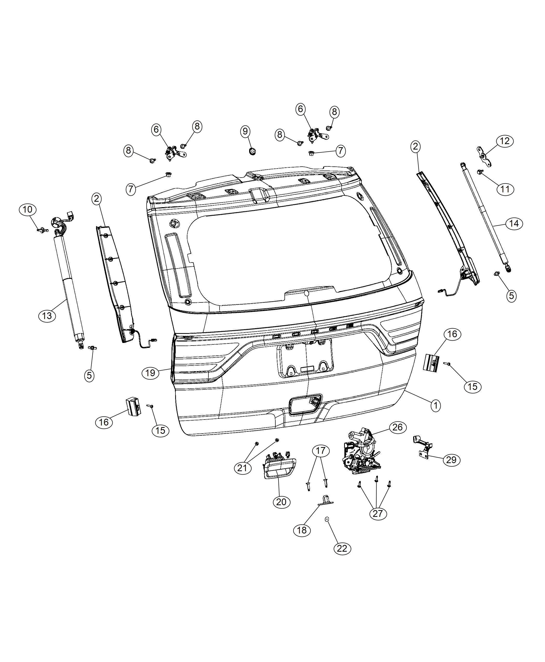 wiring diagram database  dodge durango bracket deck lid prop left right  bracket with stud without power