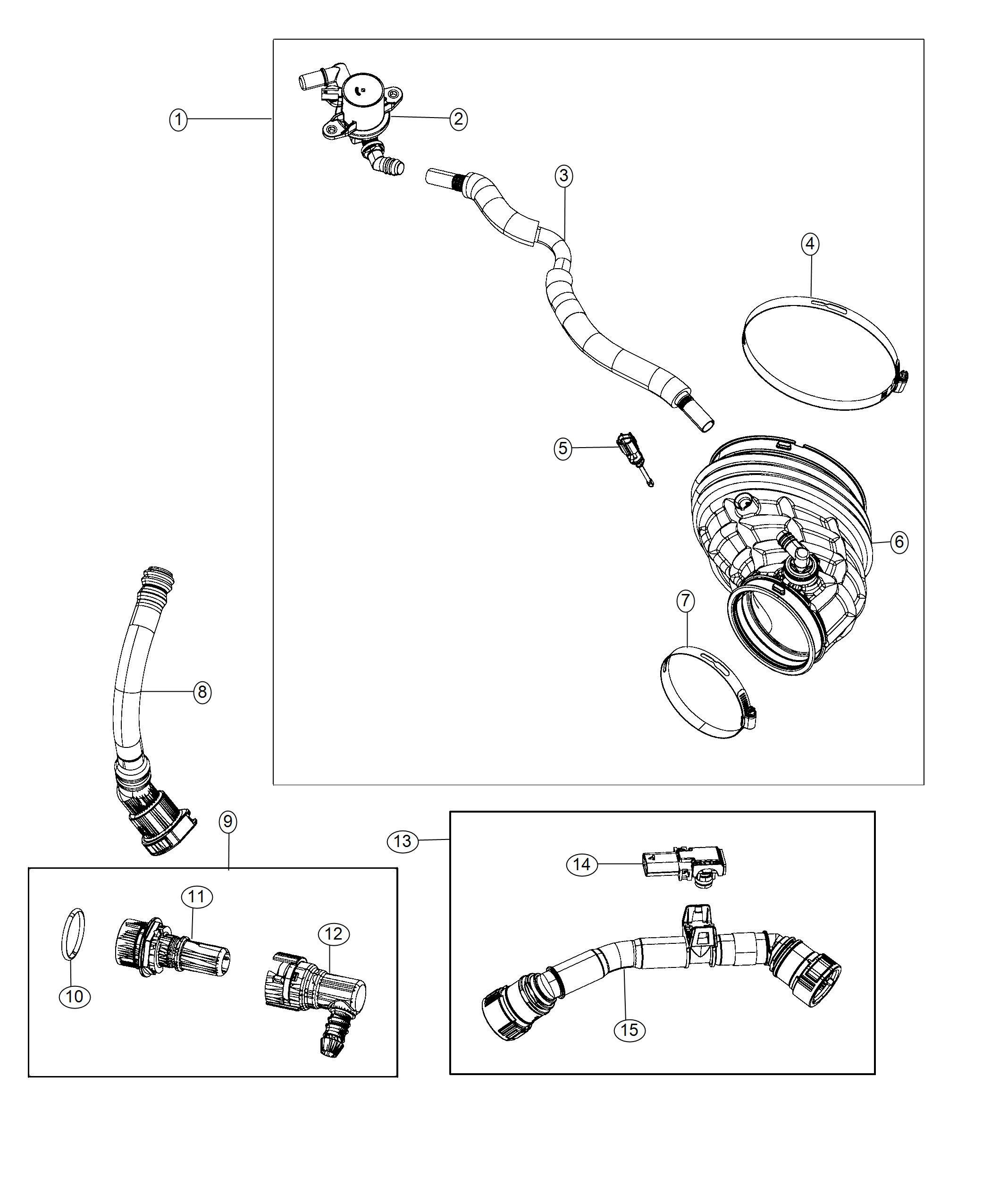 Dodge Challenger Duct Clean Air Crankcase Ventilation