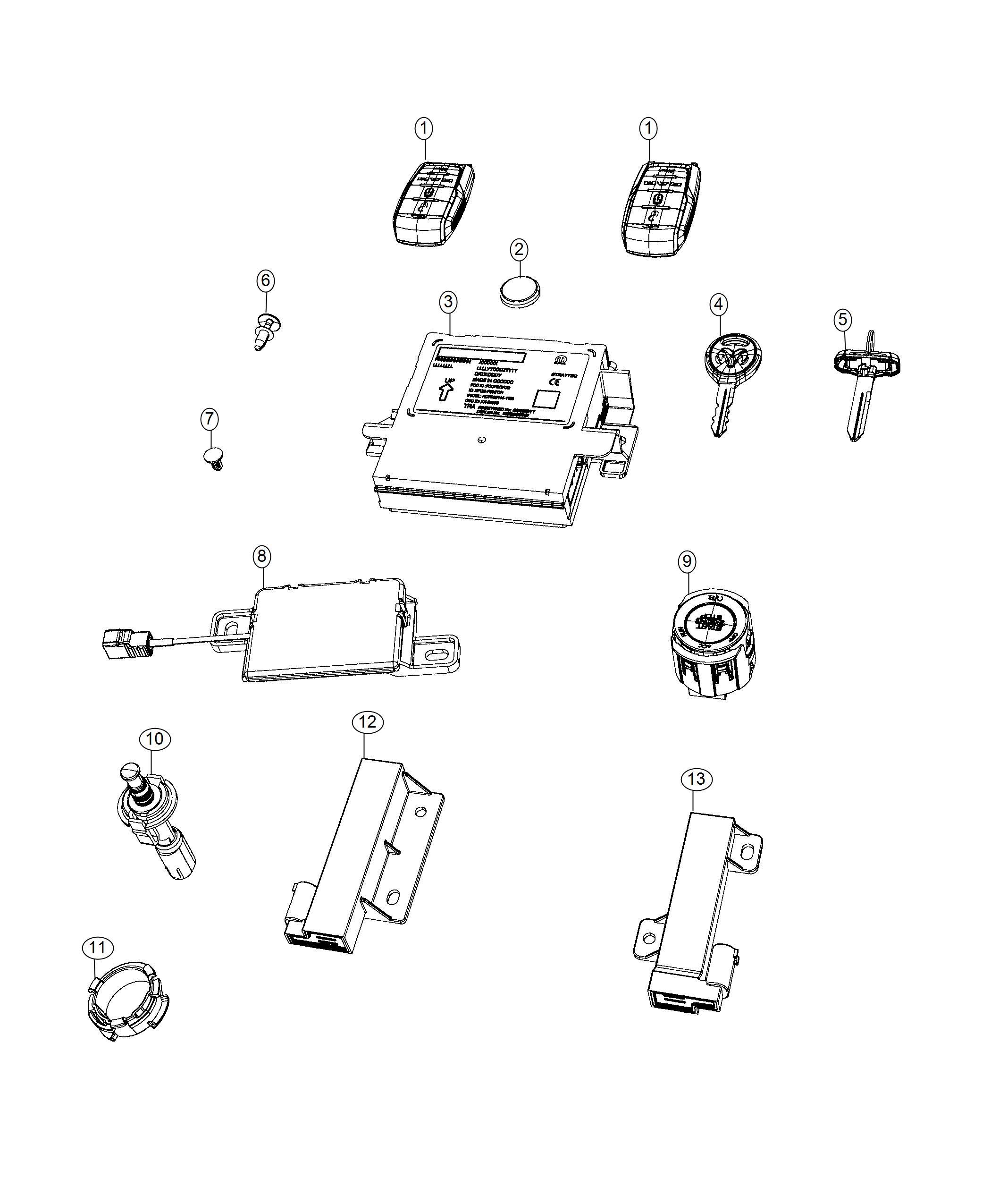 Ram Key Blank Transmitter