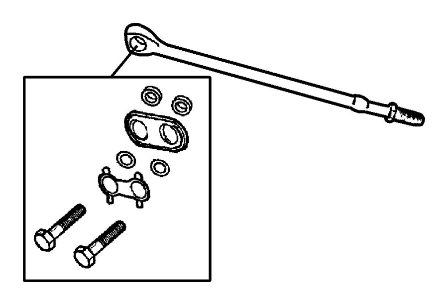 Dodge Intrepid Tie Rod Steering Inner Left Left Valve