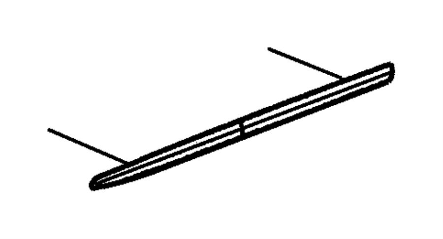 Dodge Ram Molding Front Door Left Stripe