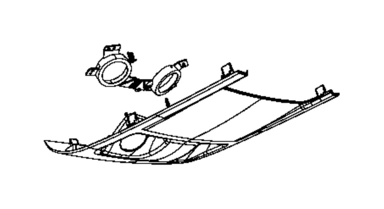 Dodge Grand Caravan Cover Overhead Console Trim All