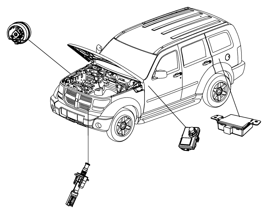 Dodge Grand Caravan Module Security Alarm Premium