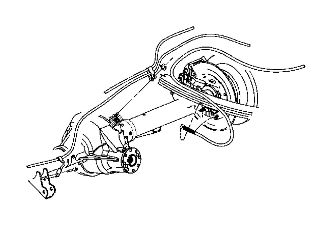 Dodge Ram Cable Parking Brake Left Left Rear