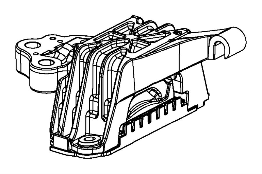 Dodge Dart Isolator Transmission Mount Suspension Engine Mounting
