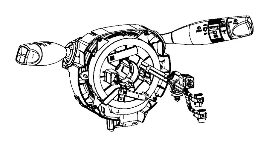 Jeep Cherokee Module Steering Column Wheel Heated