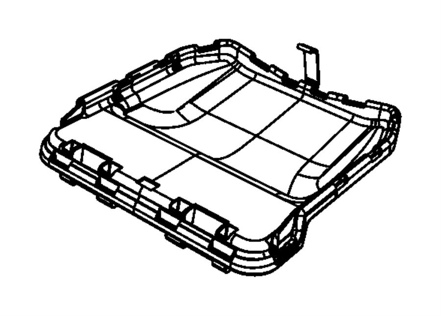 Dodge Journey Cover Storage Bin Trim Leather
