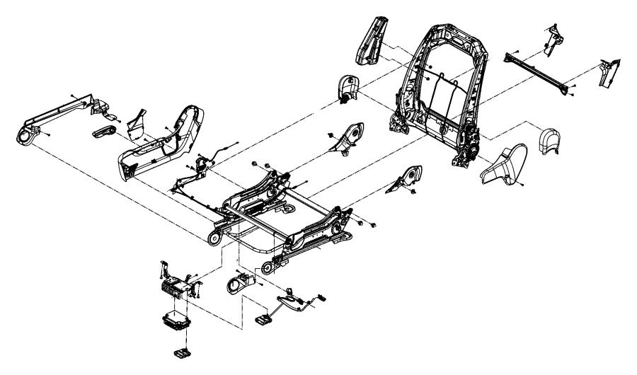Dodge Durango Cover Seat Recliner Left Rear Inner