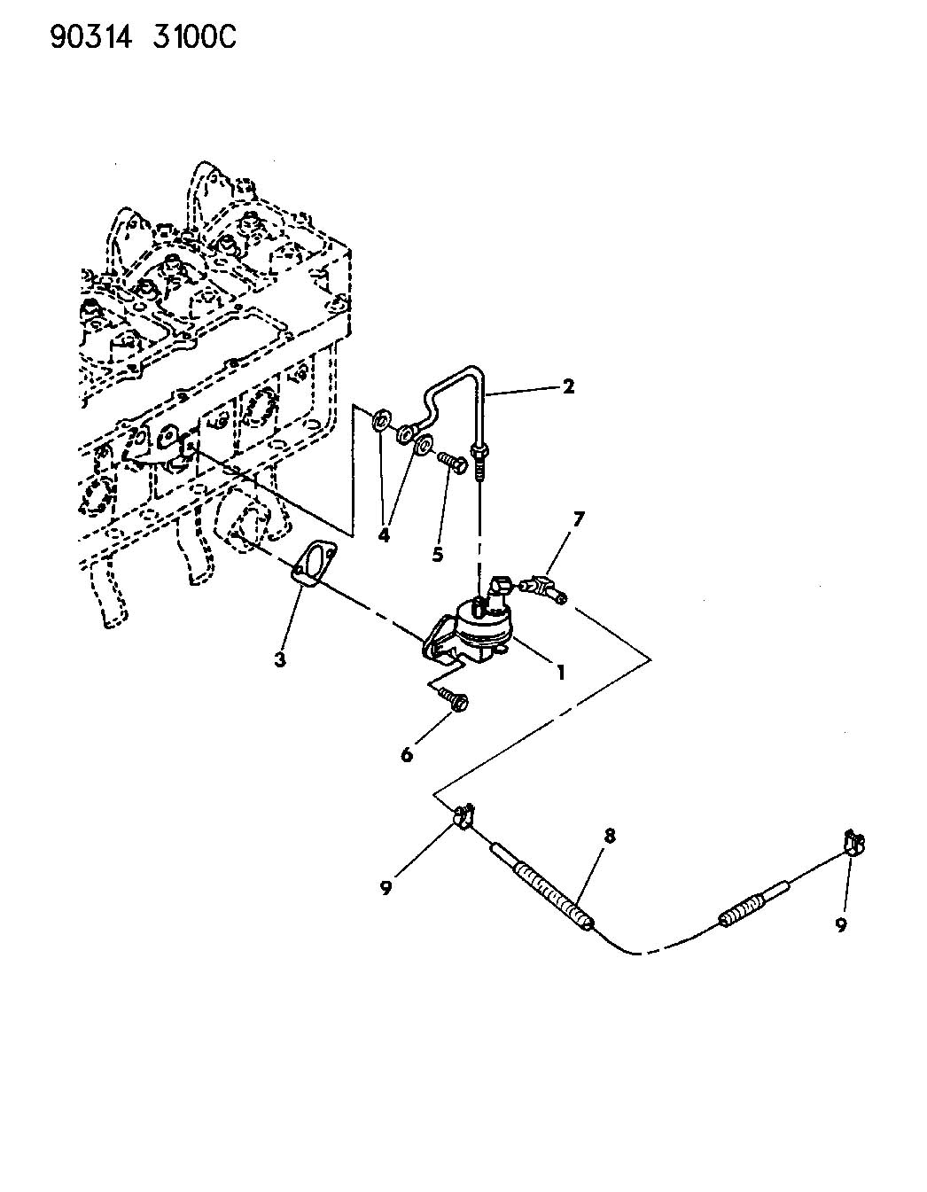 Dodge Ram Washer Fuel Line Banjoselengine