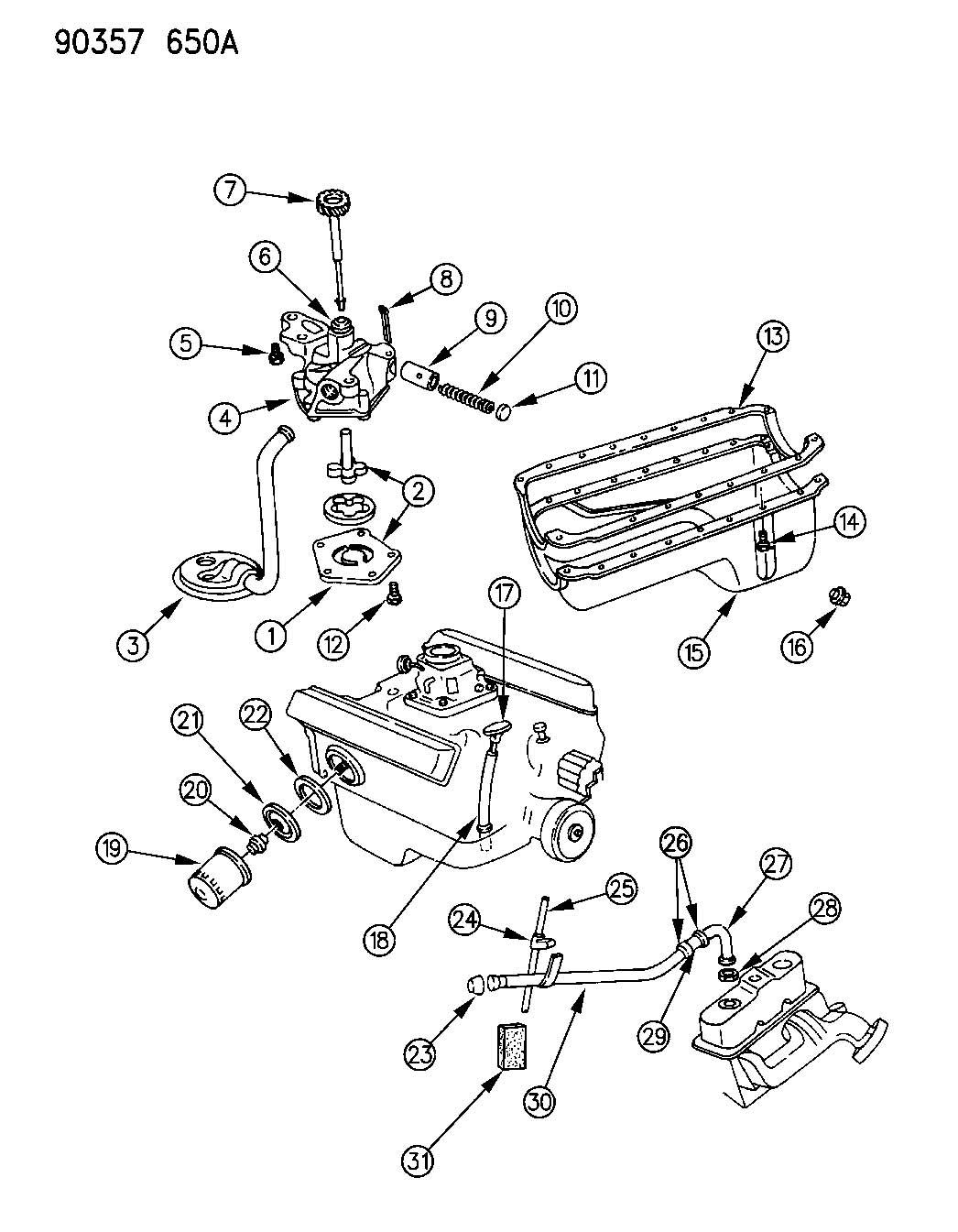 Dodge Dakota Pan Engine Oil Wheeling Eln