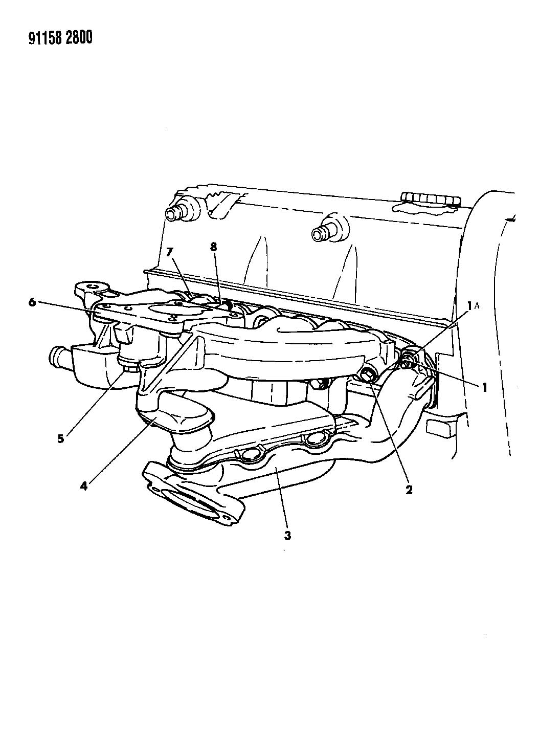 Dodge Manifolds Intake Amp Exhaust 2 5 L Engine