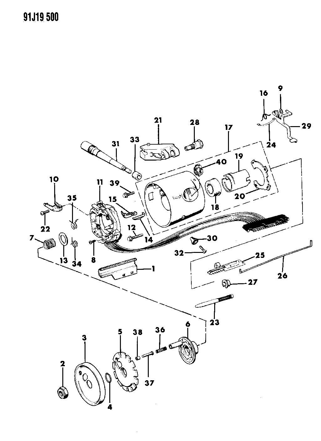 Wrangler Housing Steering Column Upper W Floor Gear Shift