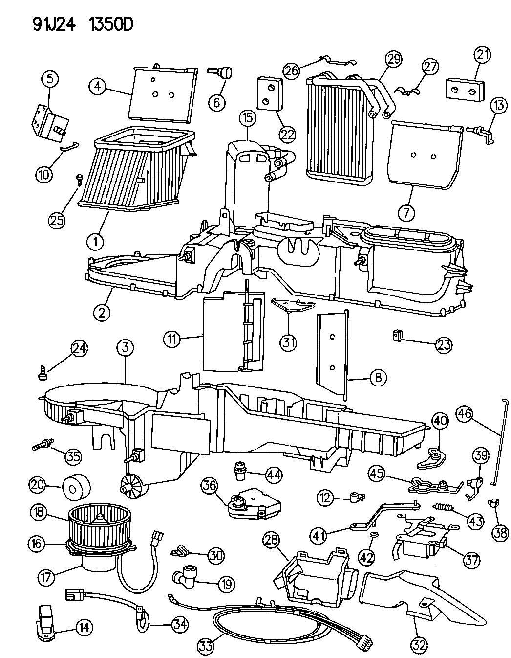 Jeep Actuator Heater Heatdefrost Defrost