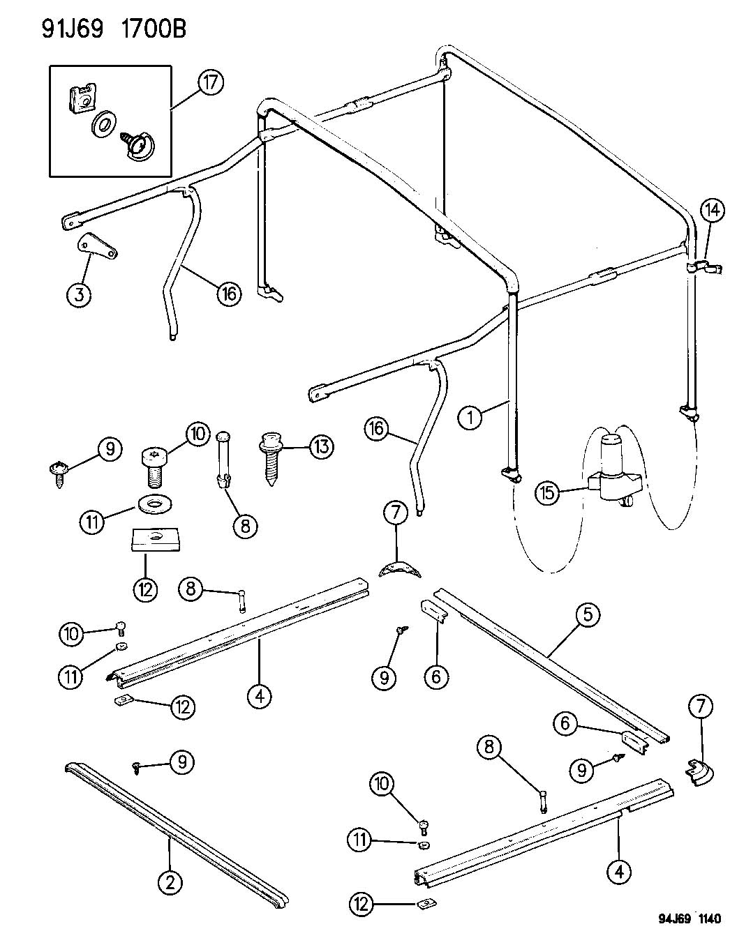 Jeep Soft Top Frame Parts Pictures To Pin